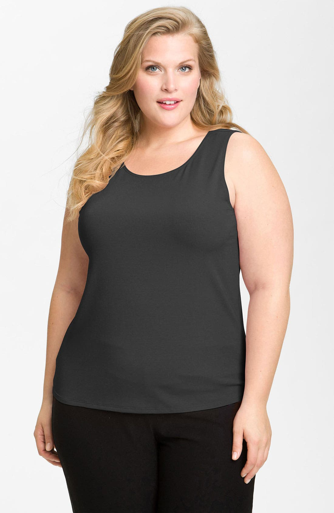 Alternate Image 1 Selected - Eileen Fisher Jewel Neck Tank
