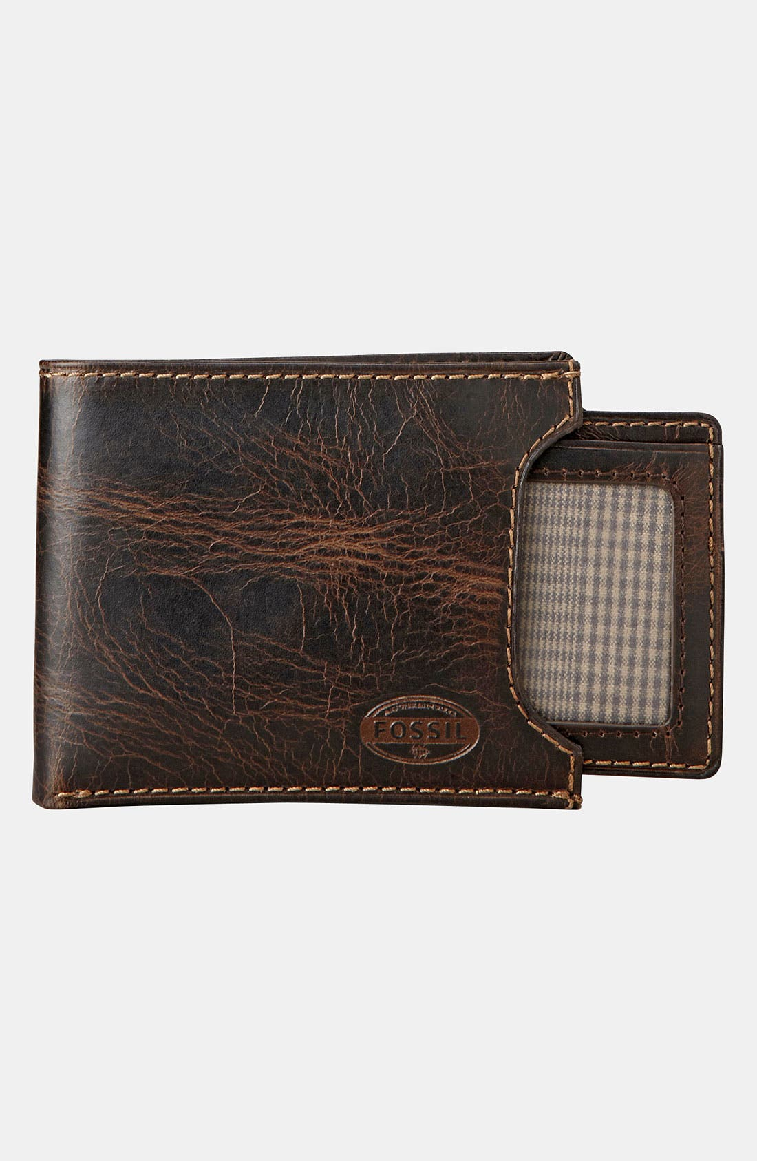 Alternate Image 4  - Fossil 'Norton' Wallet with Sliding ID Window