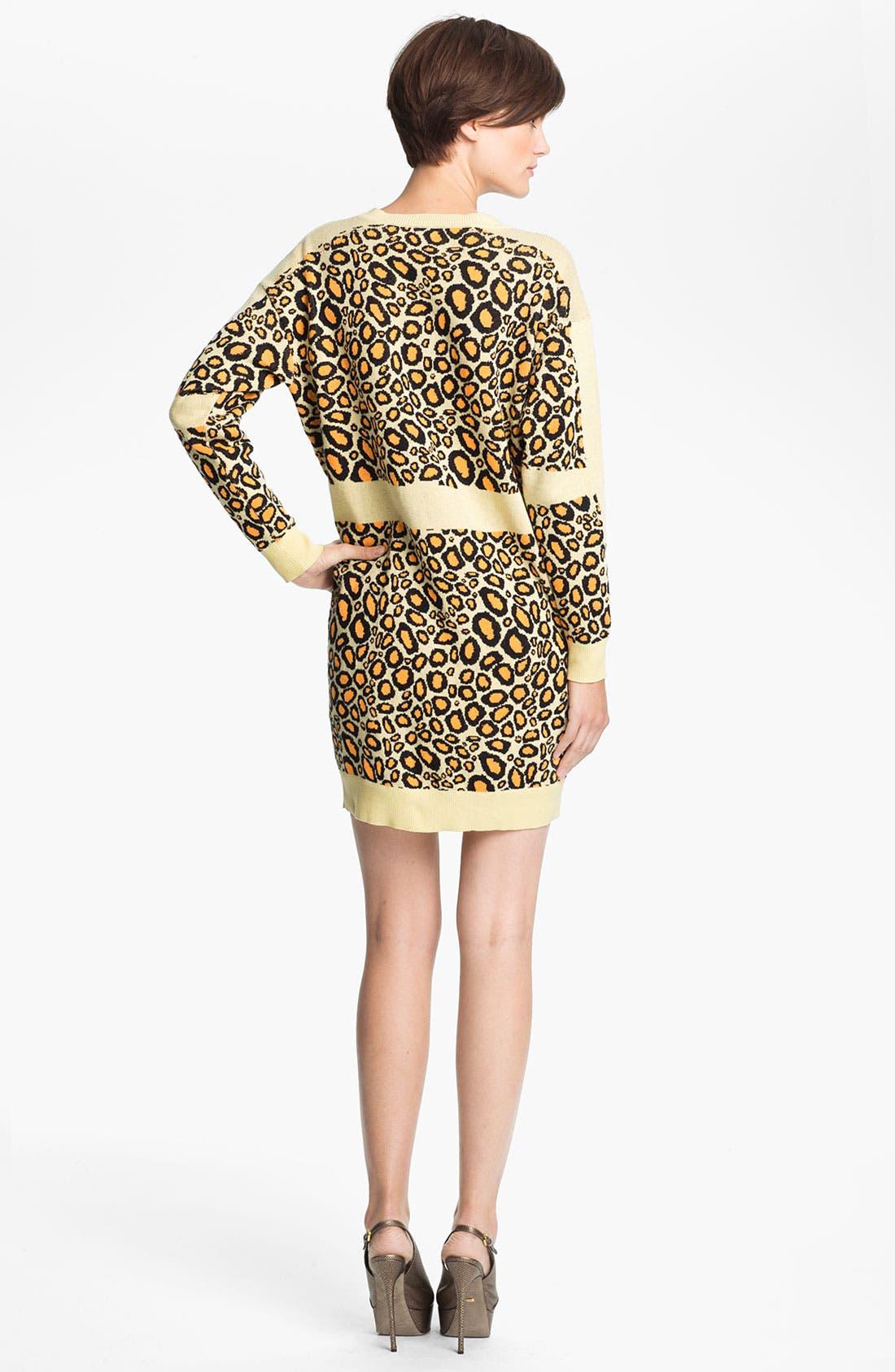 Alternate Image 2  - KENZO Leopard Jacquard Sweater Dress