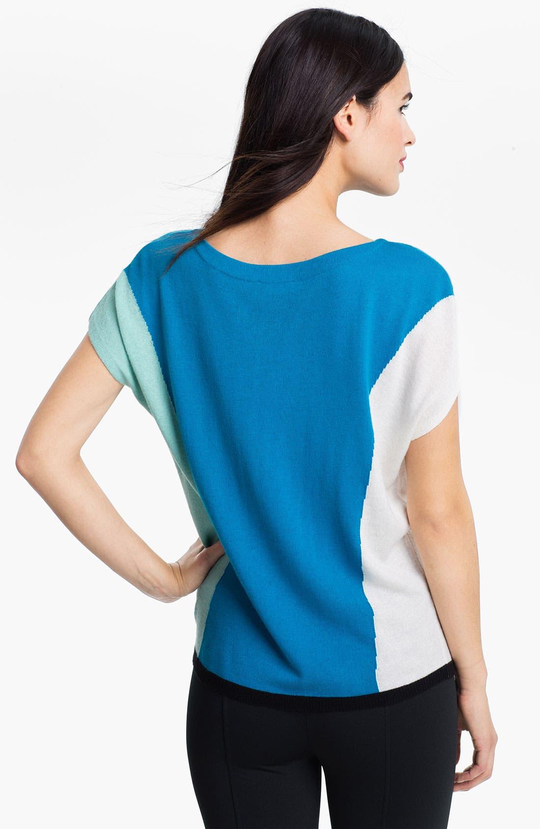 Alternate Image 2  - Vince Camuto Bateau Neck Colorblock Sweater