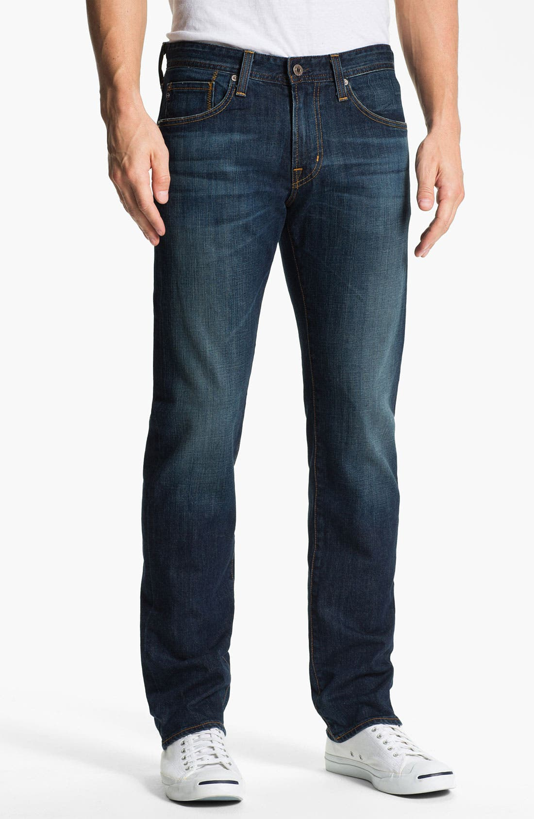 Alternate Image 1 Selected - AG Jeans 'Matchbox' Slim Straight Leg Jeans (District)
