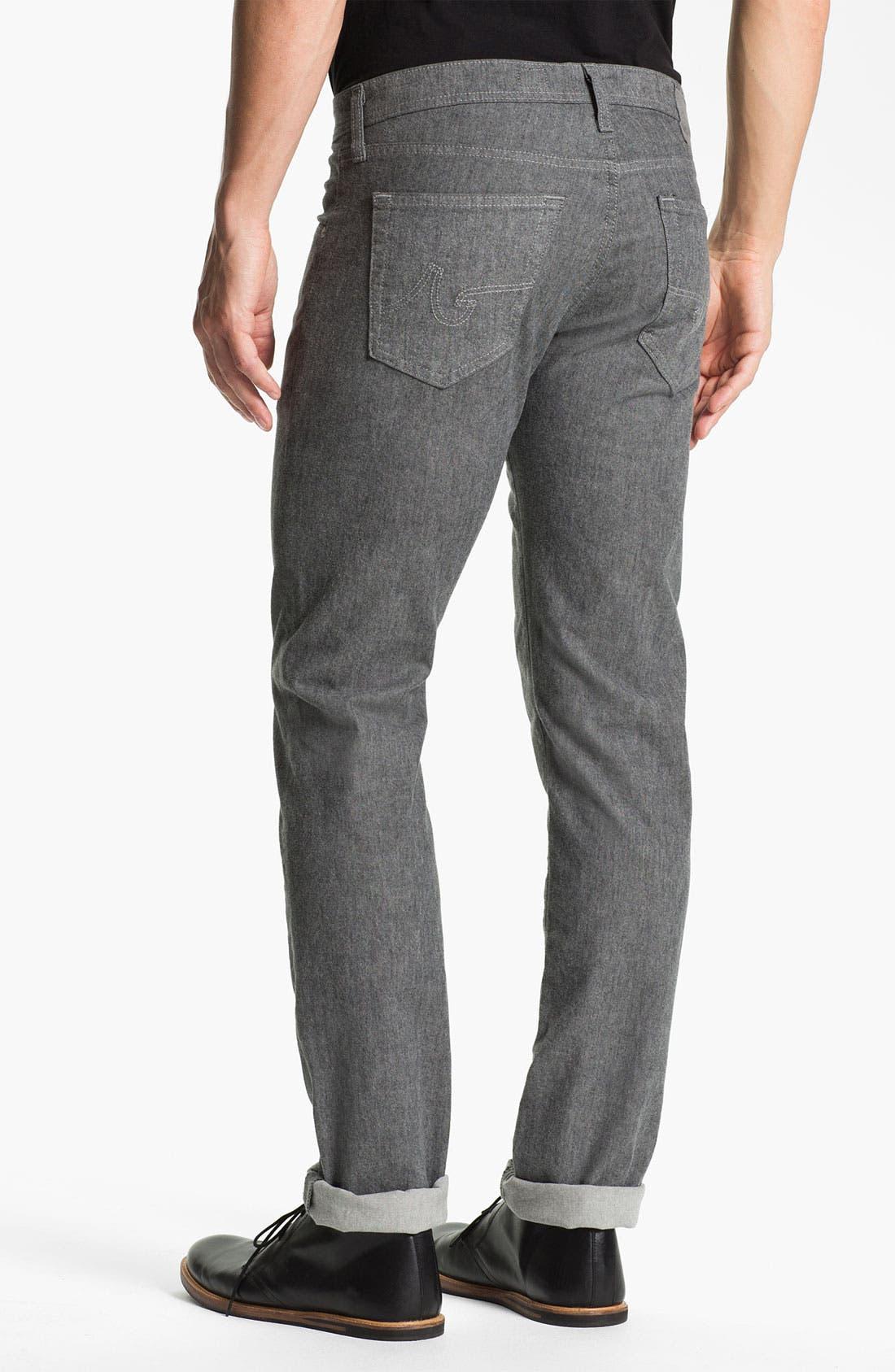 Alternate Image 2  - AG Jeans 'Matchbox' Slim Straight Leg Jeans (Tweed Grey)