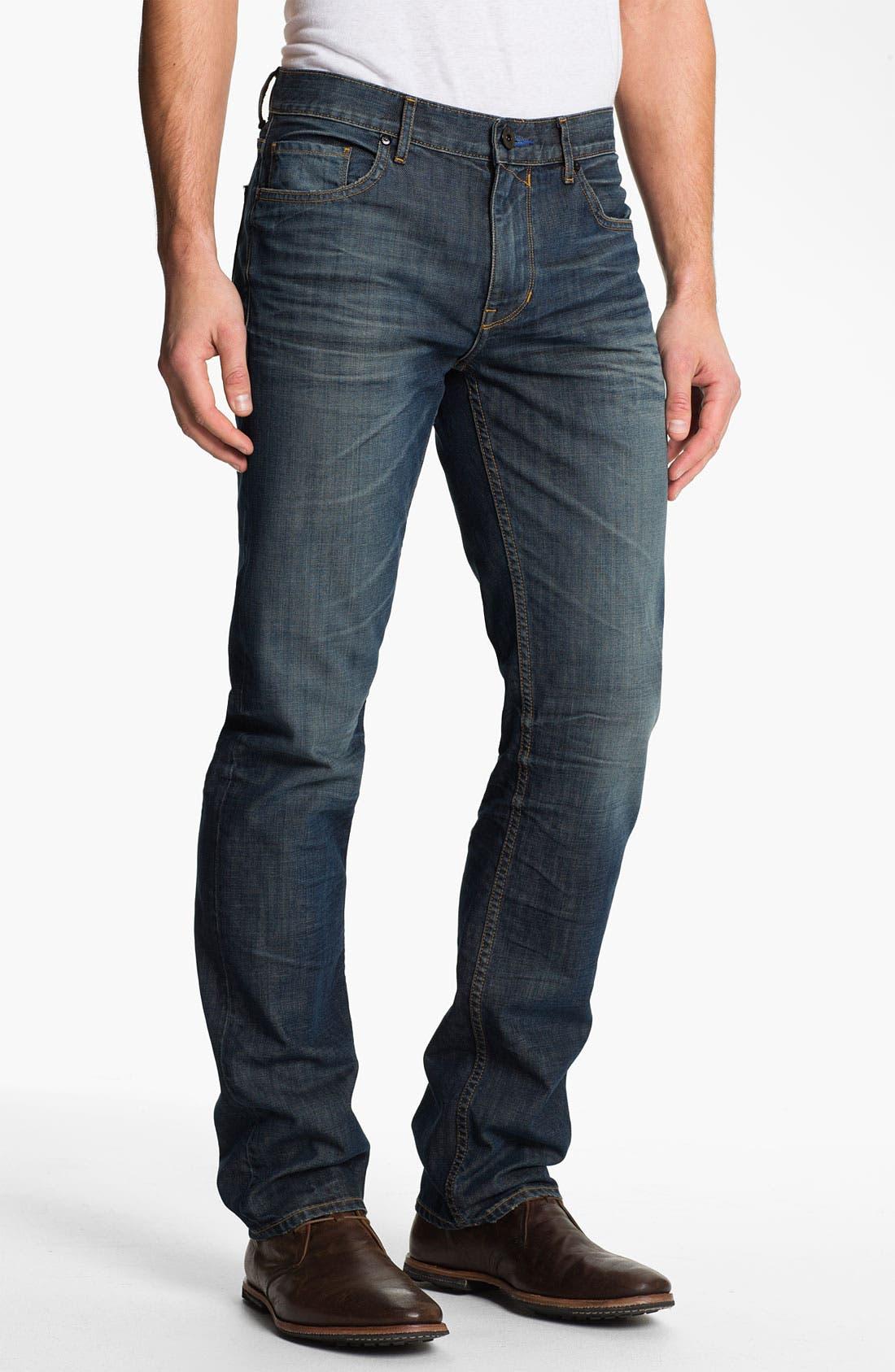 Alternate Image 2  - PAIGE 'Normandie' Slim Straight Leg Jeans (Castaway)