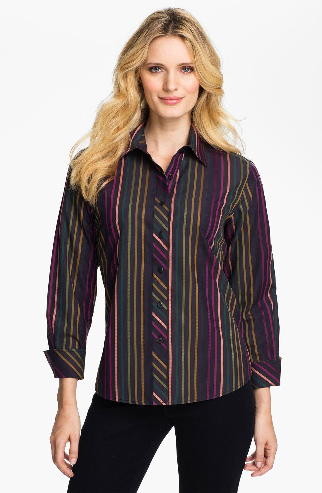 Main Image - Foxcroft 'Jewel Stripe' Shirt