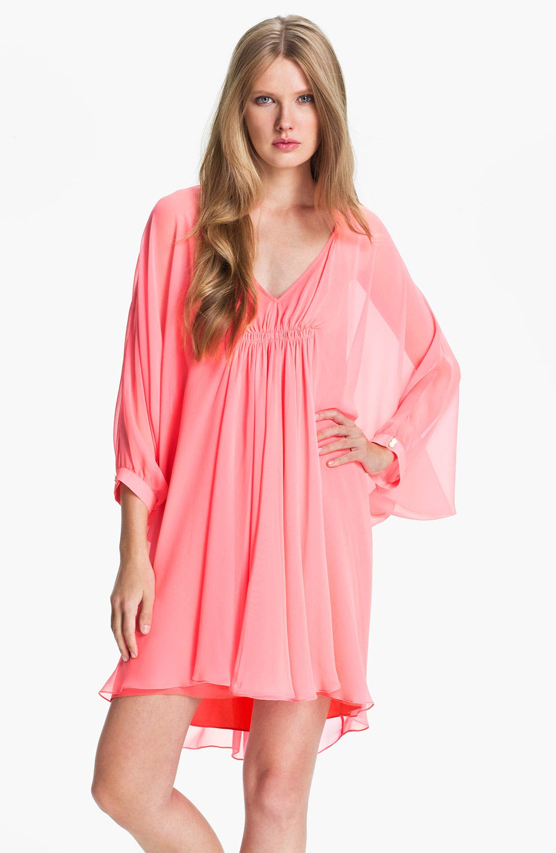 Main Image - Diane von Furstenberg 'Fleurette' Silk Caftan Dress