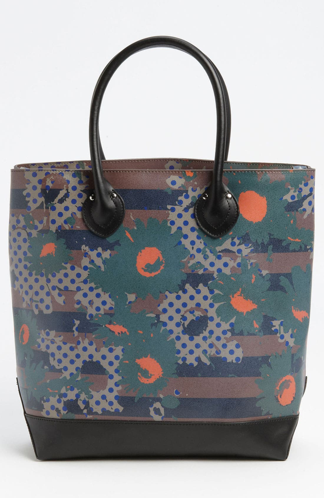Alternate Image 4  - Yarnz 'Flower Dots' Leather Tote
