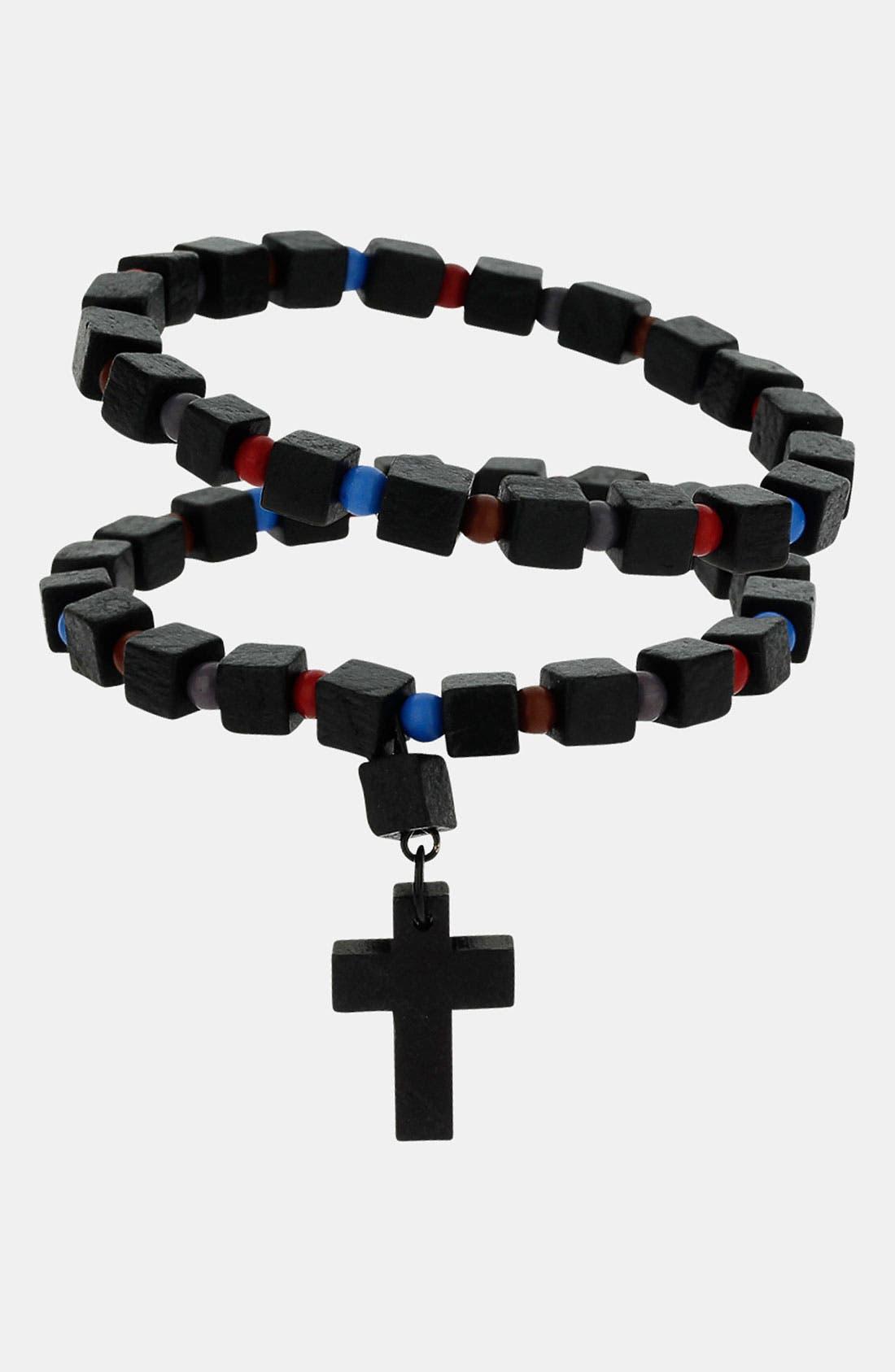 Main Image - Topman Wooden Bead Bracelets (Set of 2)