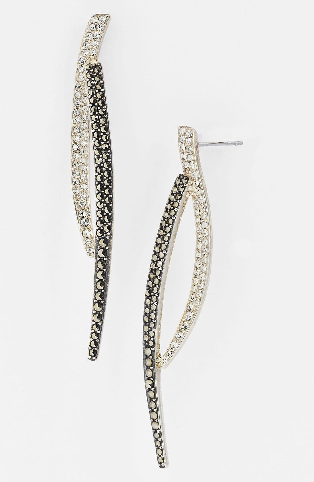 Alternate Image 1 Selected - Judith Jack 'Crystal Glitz' Linear Earrings