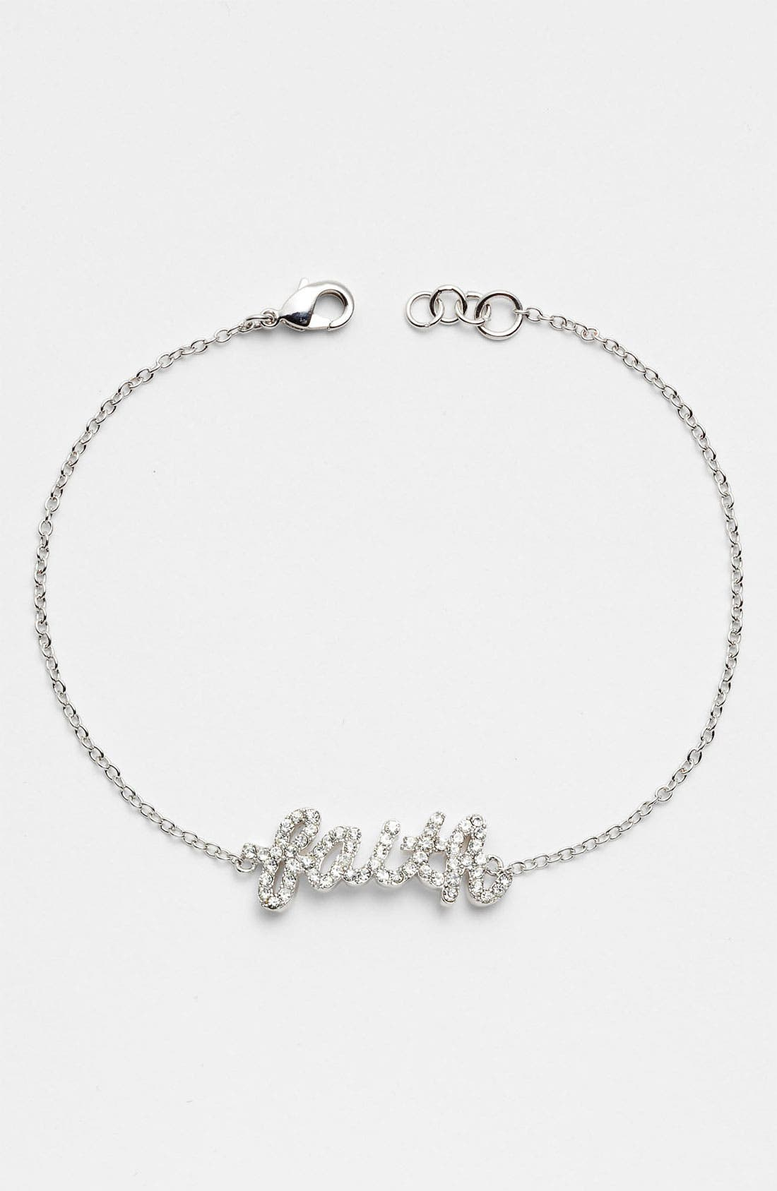 Alternate Image 1 Selected - Ariella Collection 'Messages - Faith' Script Station Bracelet