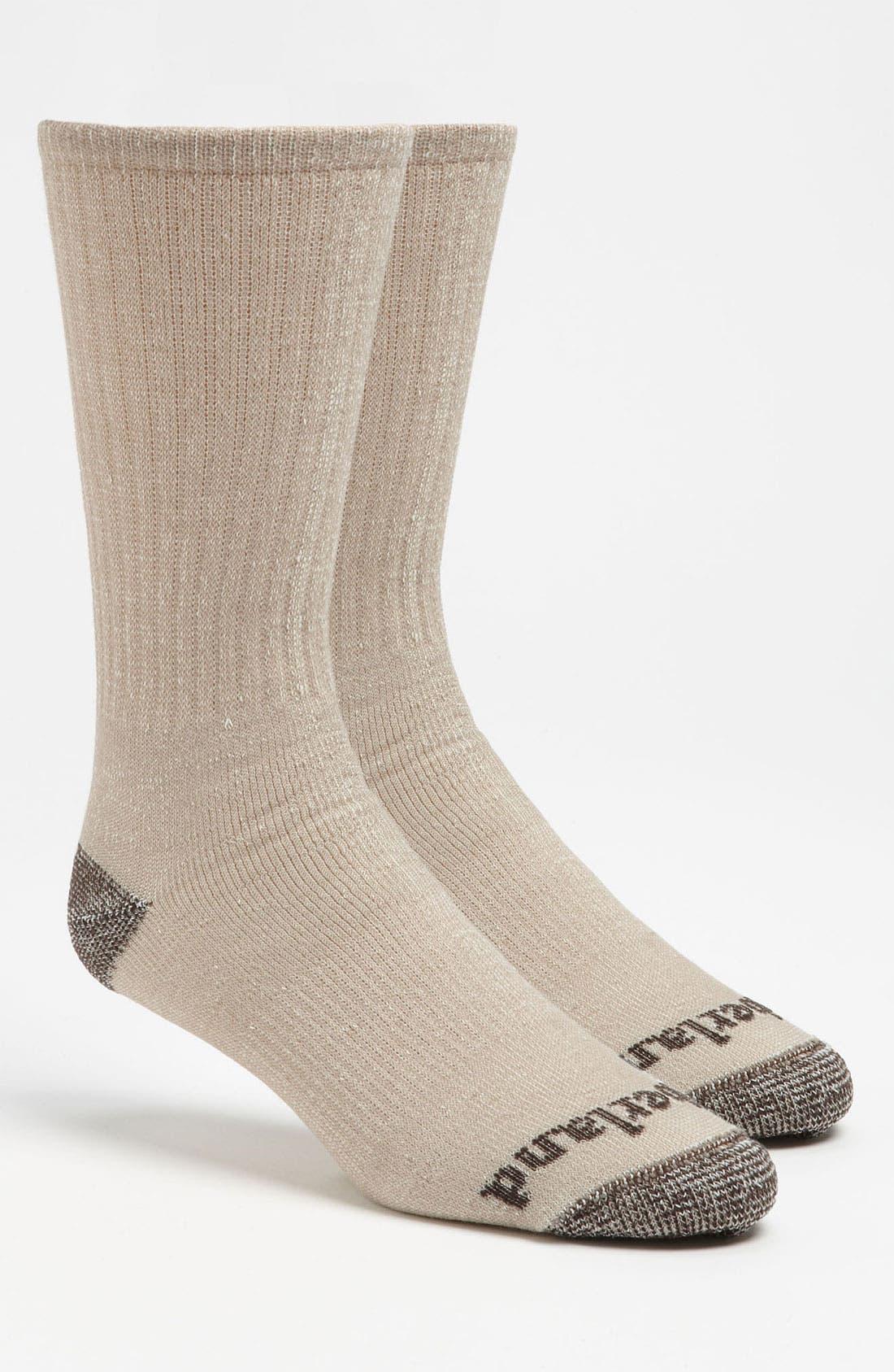 Main Image - Timberland Lightweight Merino Wool Blend Crew Socks (2-Pack)