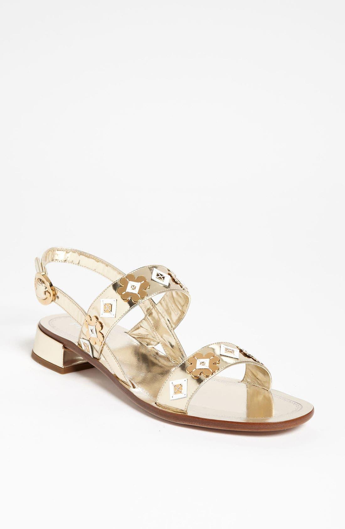 Main Image - Prada Two Strap Appliqué Sandal