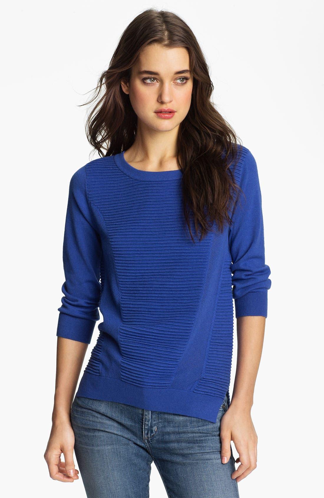 Alternate Image 1 Selected - Trouvé Rib Panel Sweater