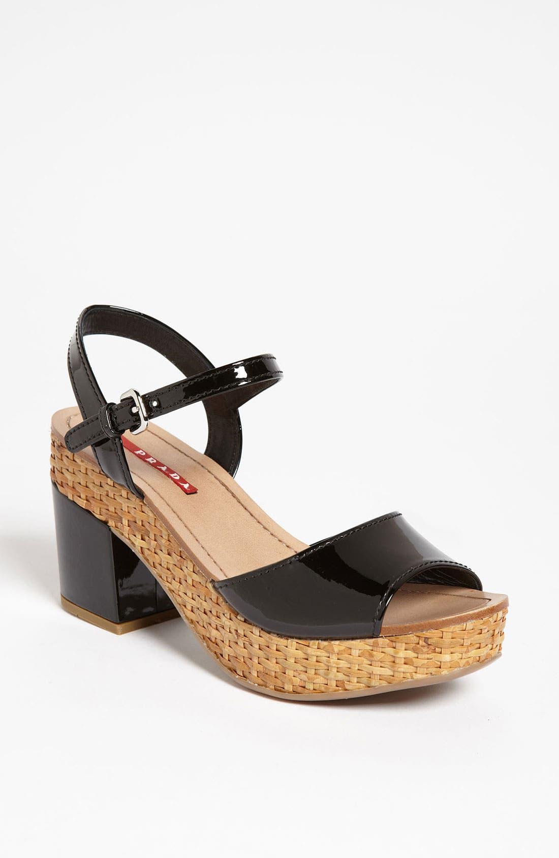 Alternate Image 1 Selected - Prada Block Heel Sandal
