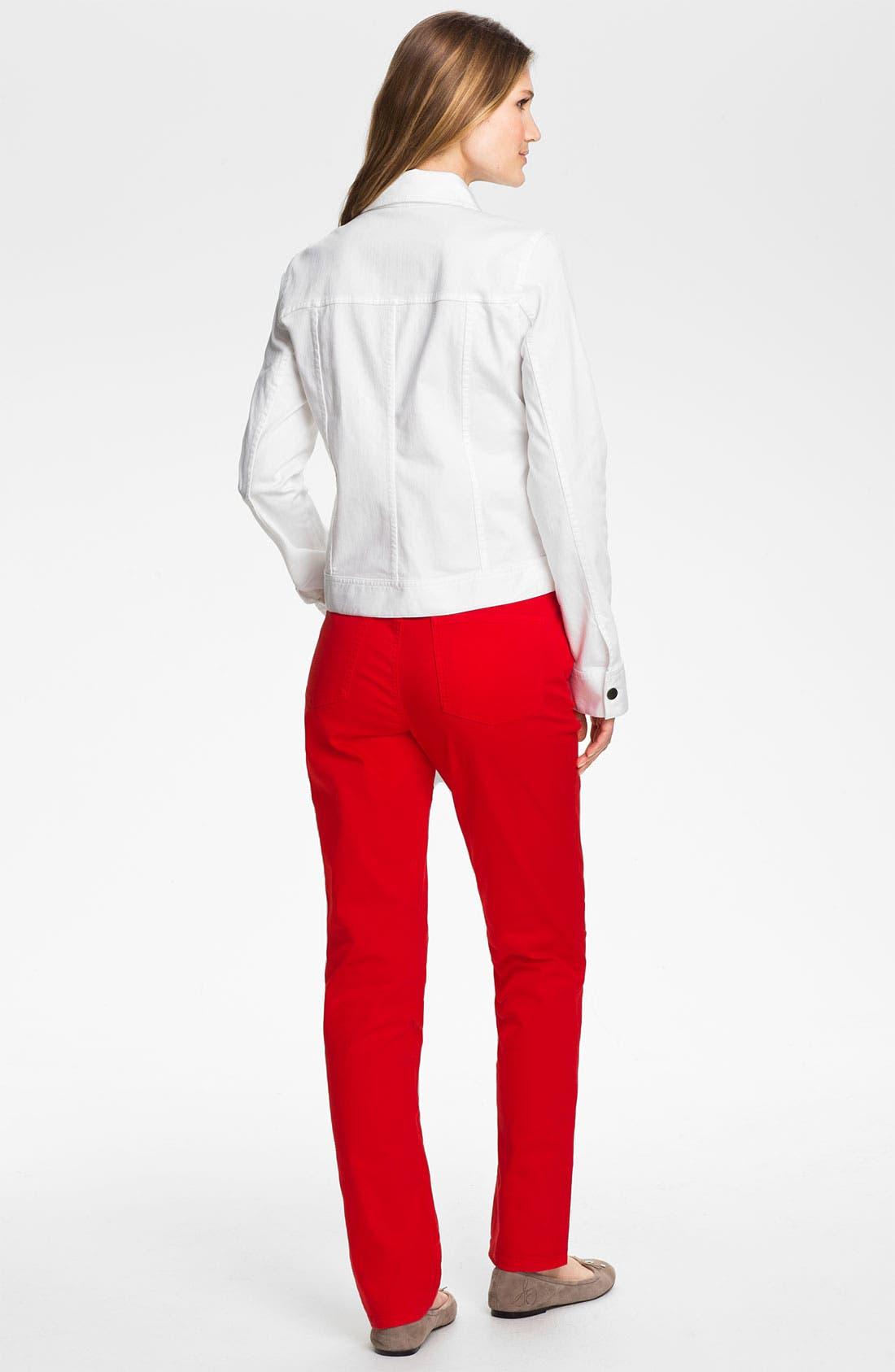 Alternate Image 5  - Eileen Fisher Organic Stretch Cotton Denim Jacket