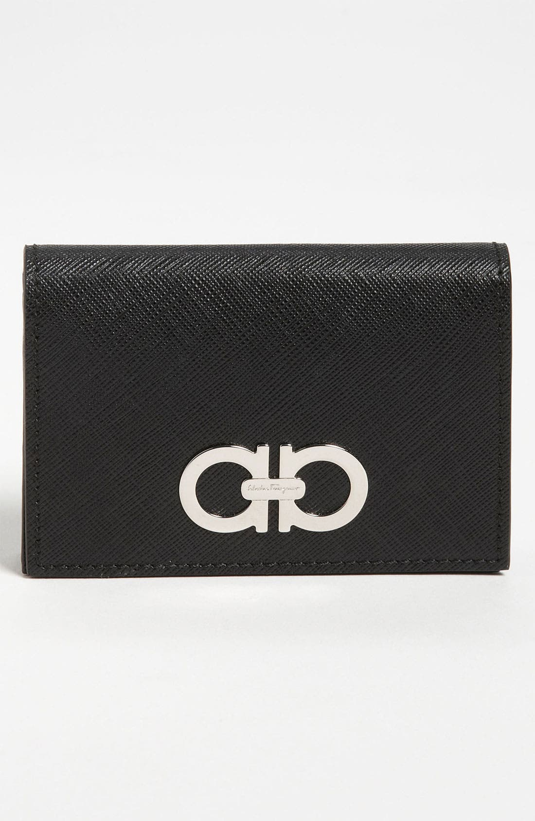 Alternate Image 1 Selected - Salvatore Ferragamo 'Gancini Icona' Leather Card Case