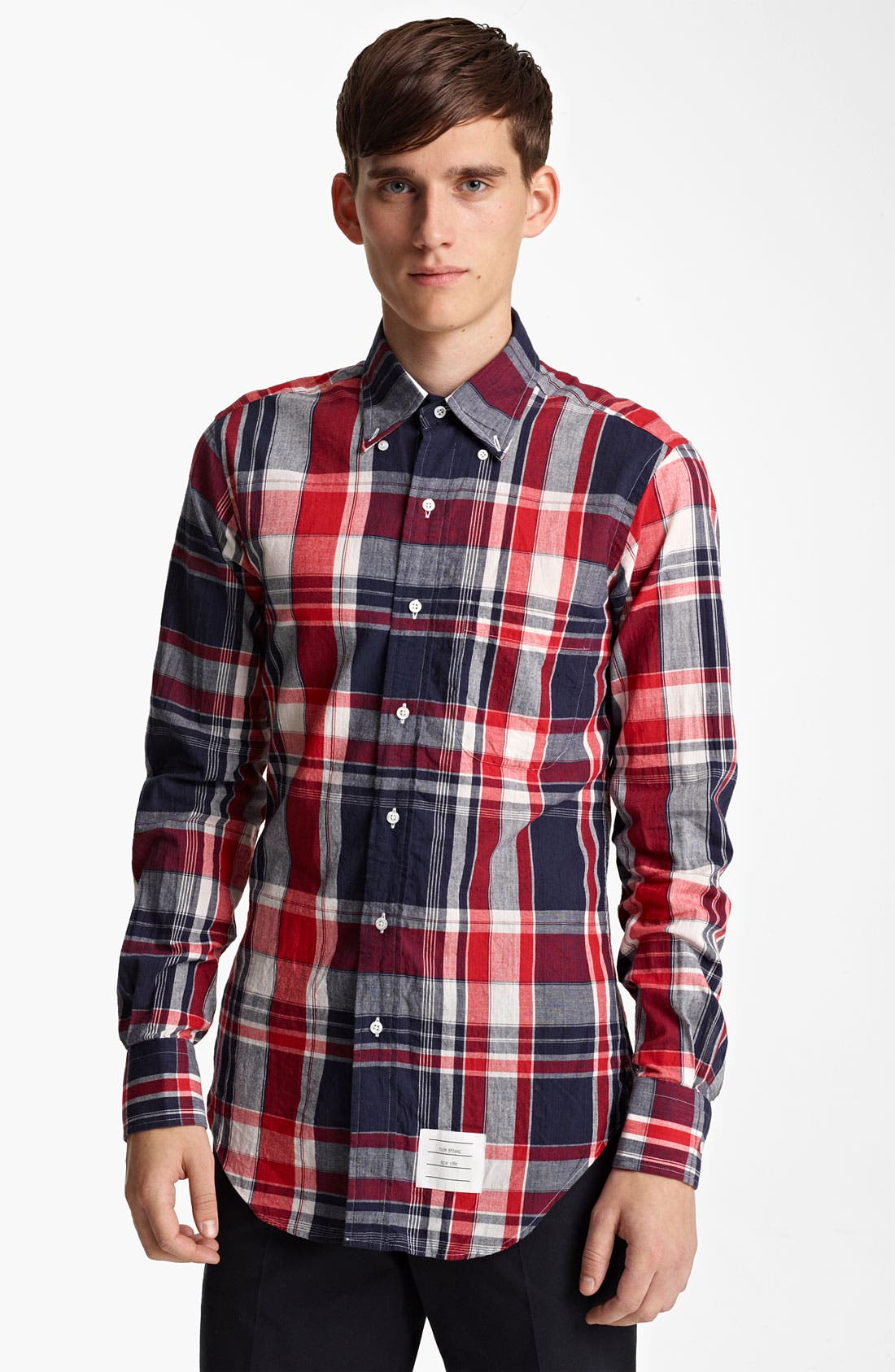Alternate Image 3  - Thom Browne Madras Plaid Cotton Shirt