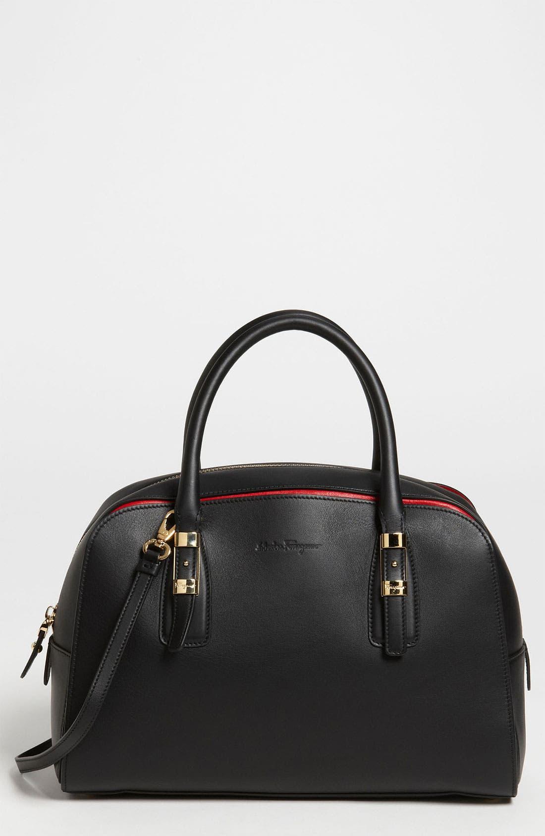 Alternate Image 1 Selected - Salvatore Ferragamo 'Emmy - Small' Leather Crossbody Bag