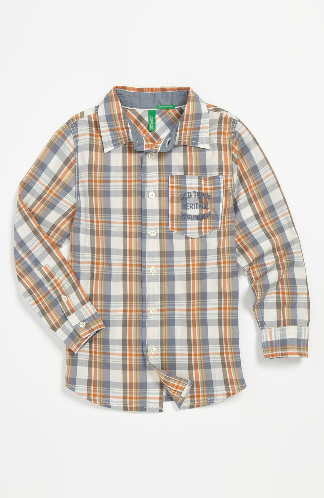 Main Image - United Colors of Benetton Kids Woven Shirt (Toddler)