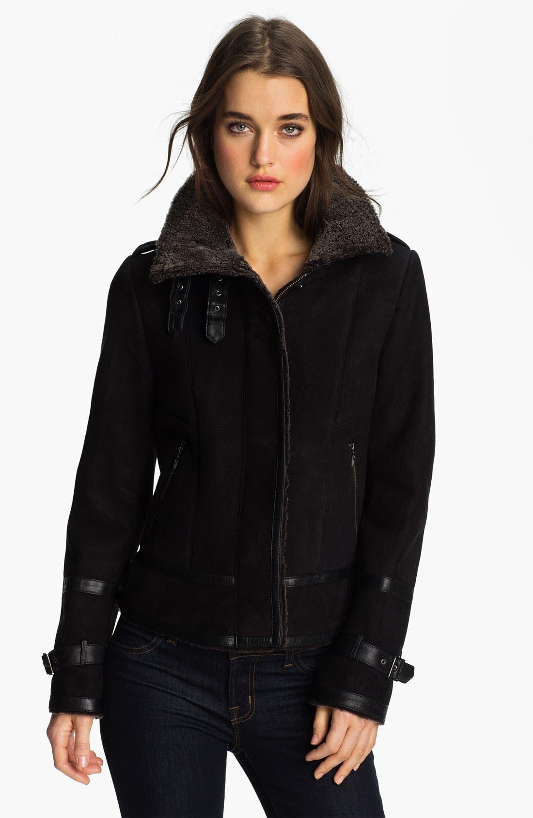 Alternate Image 1 Selected - Cole Haan Genuine Shearling Jacket