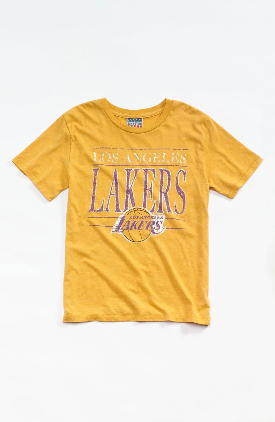 Alternate Image 1 Selected - Junk Food 'Los Angeles Lakers' T-Shirt (Little Boys & Big Boys)