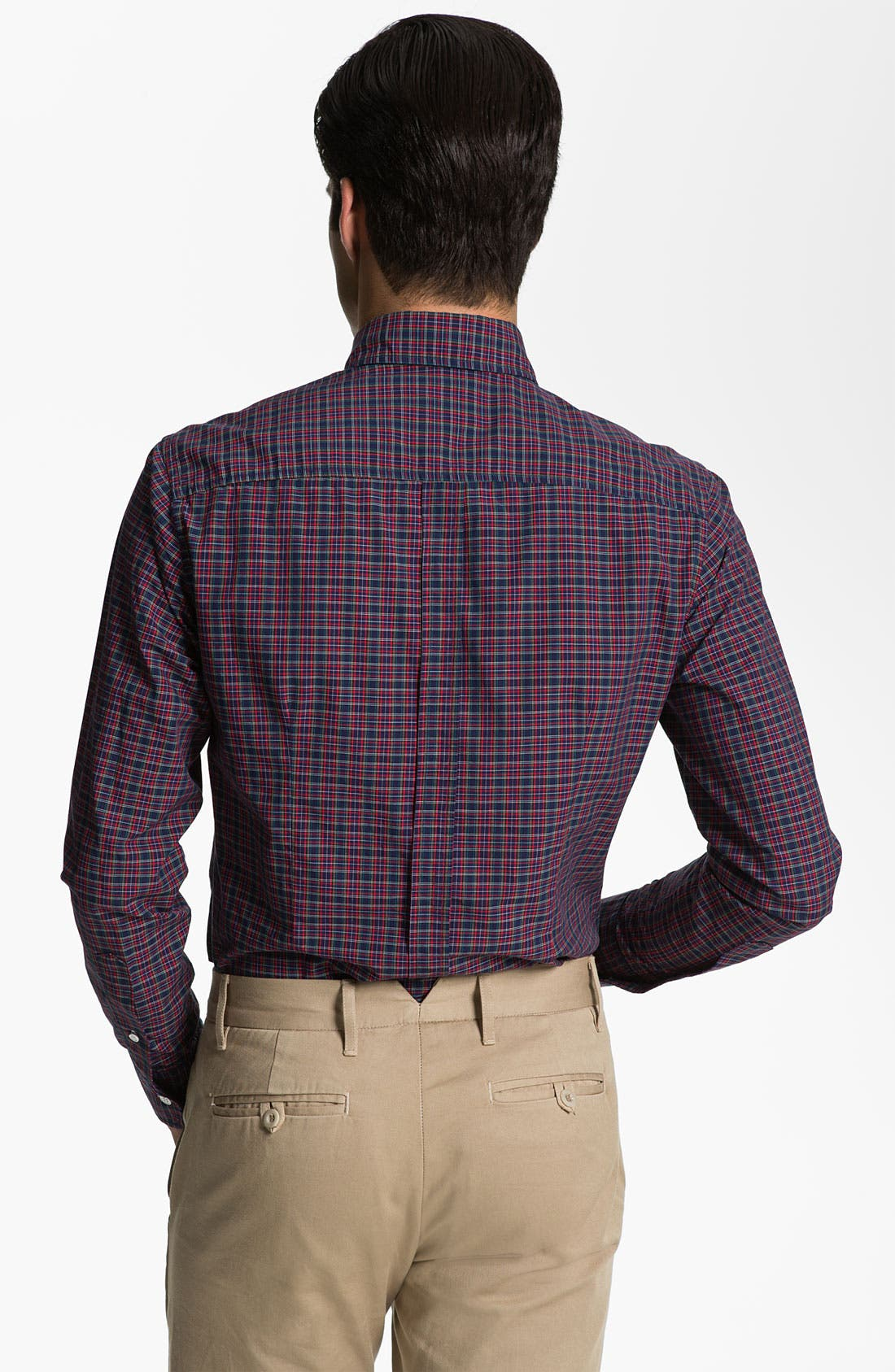 Alternate Image 2  - Band of Outsiders Plaid Sport Shirt