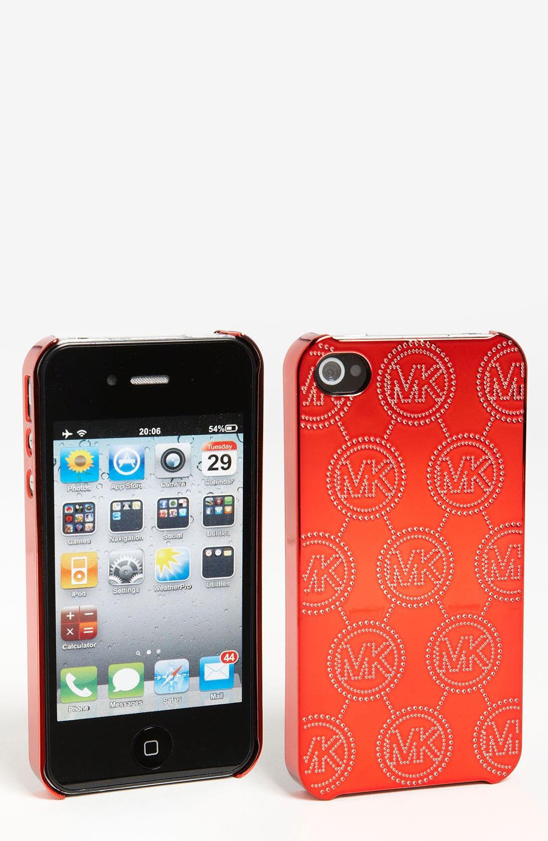 Alternate Image 1 Selected - MICHAEL Michael Kors Monogram Embossed iPhone 4 & 4S Case