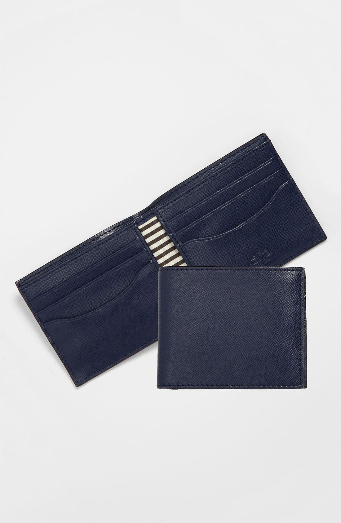 Alternate Image 2  - Jack Spade Crosshatched Leather Billfold Wallet