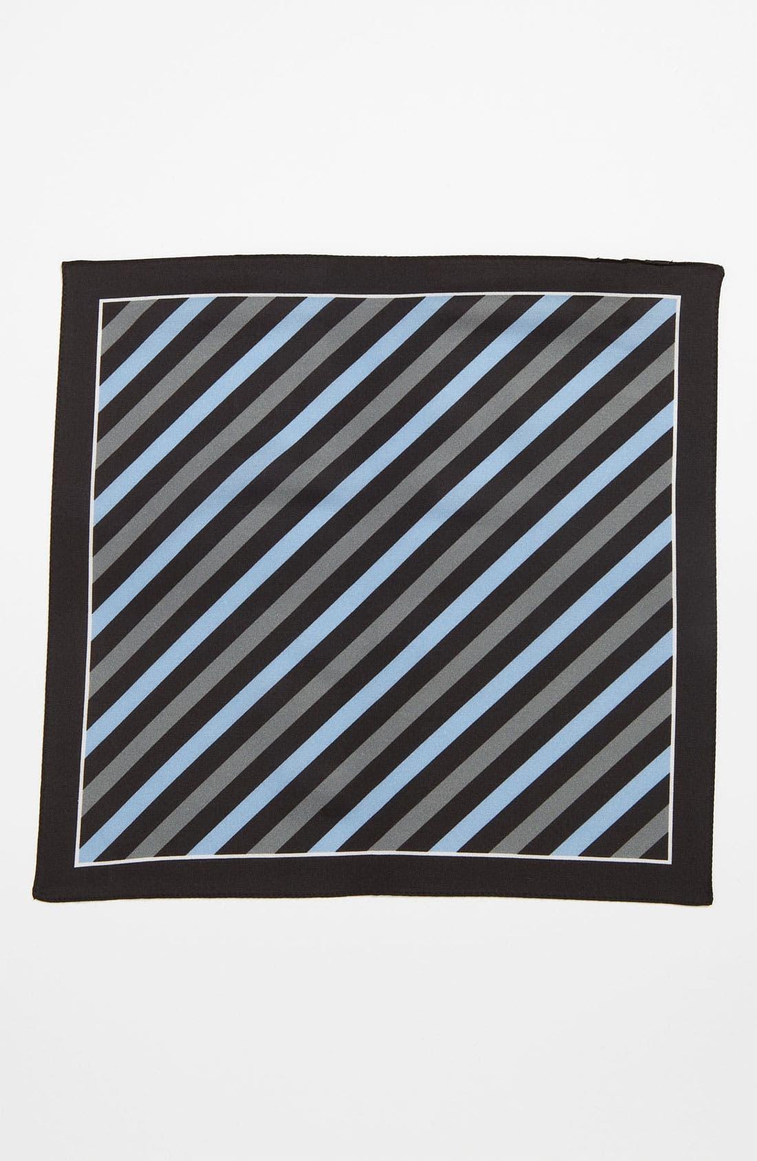 Alternate Image 2  - BOSS Black Cotton & Silk Pocket Square