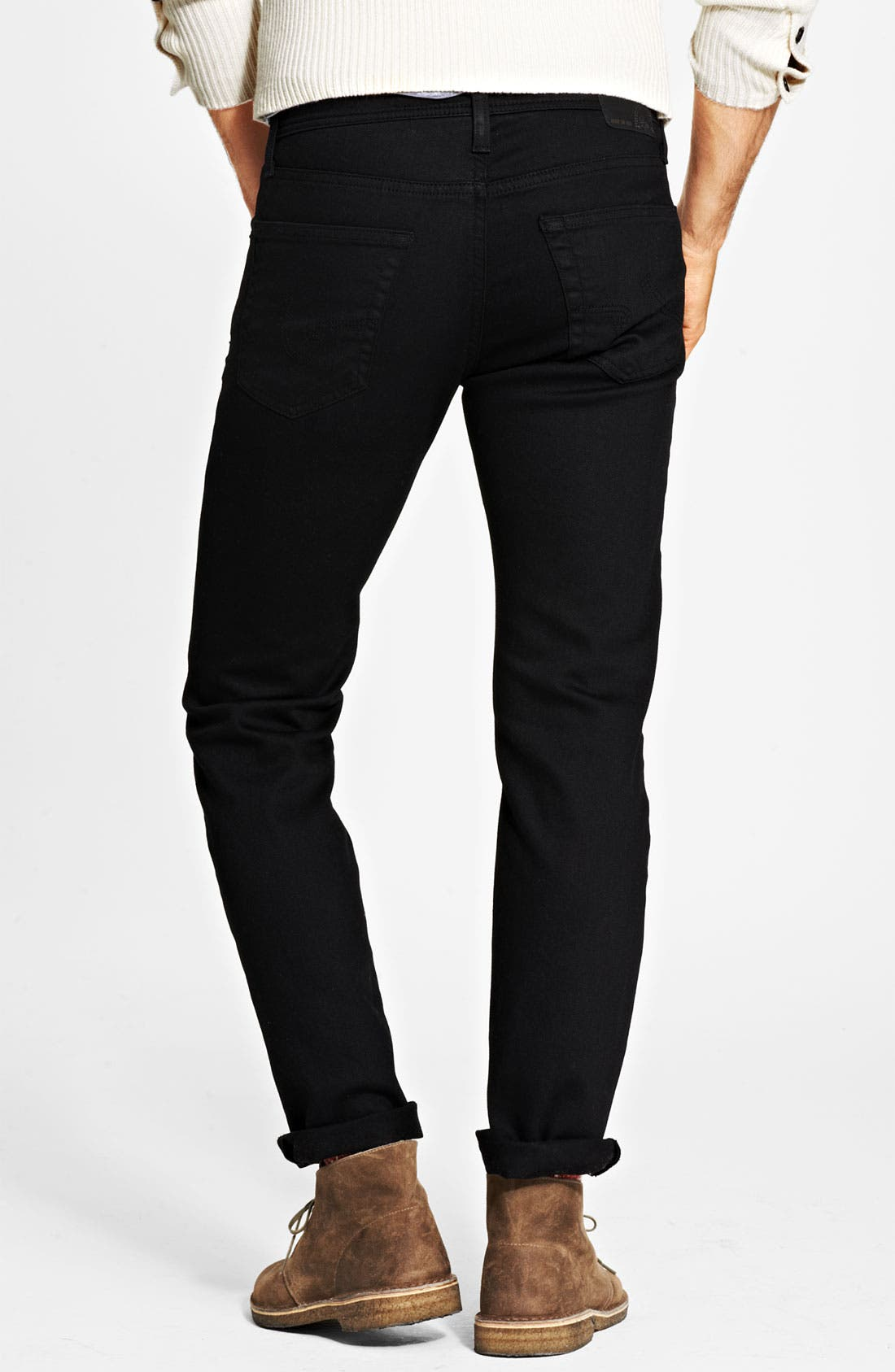 Alternate Image 2  - AG 'Matchbox' Slim Fit Jeans (Coated Black)