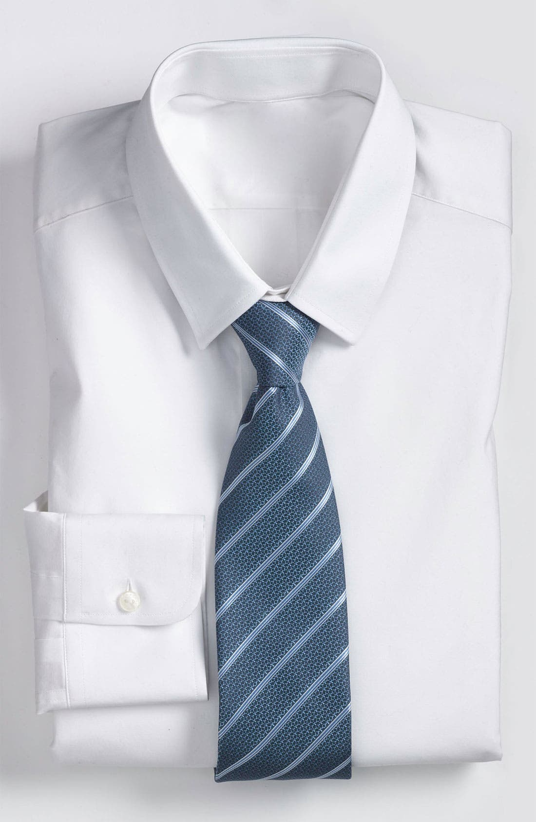 Main Image - Yves Saint Laurent Stripe Woven Silk Tie