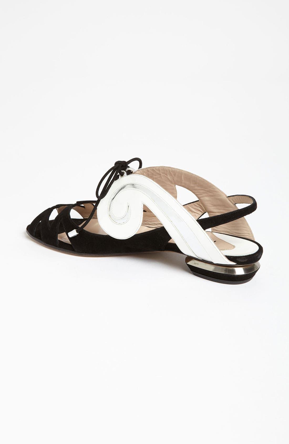 Alternate Image 2  - Nicholas Kirkwood 'Swirl' Flat Sandal