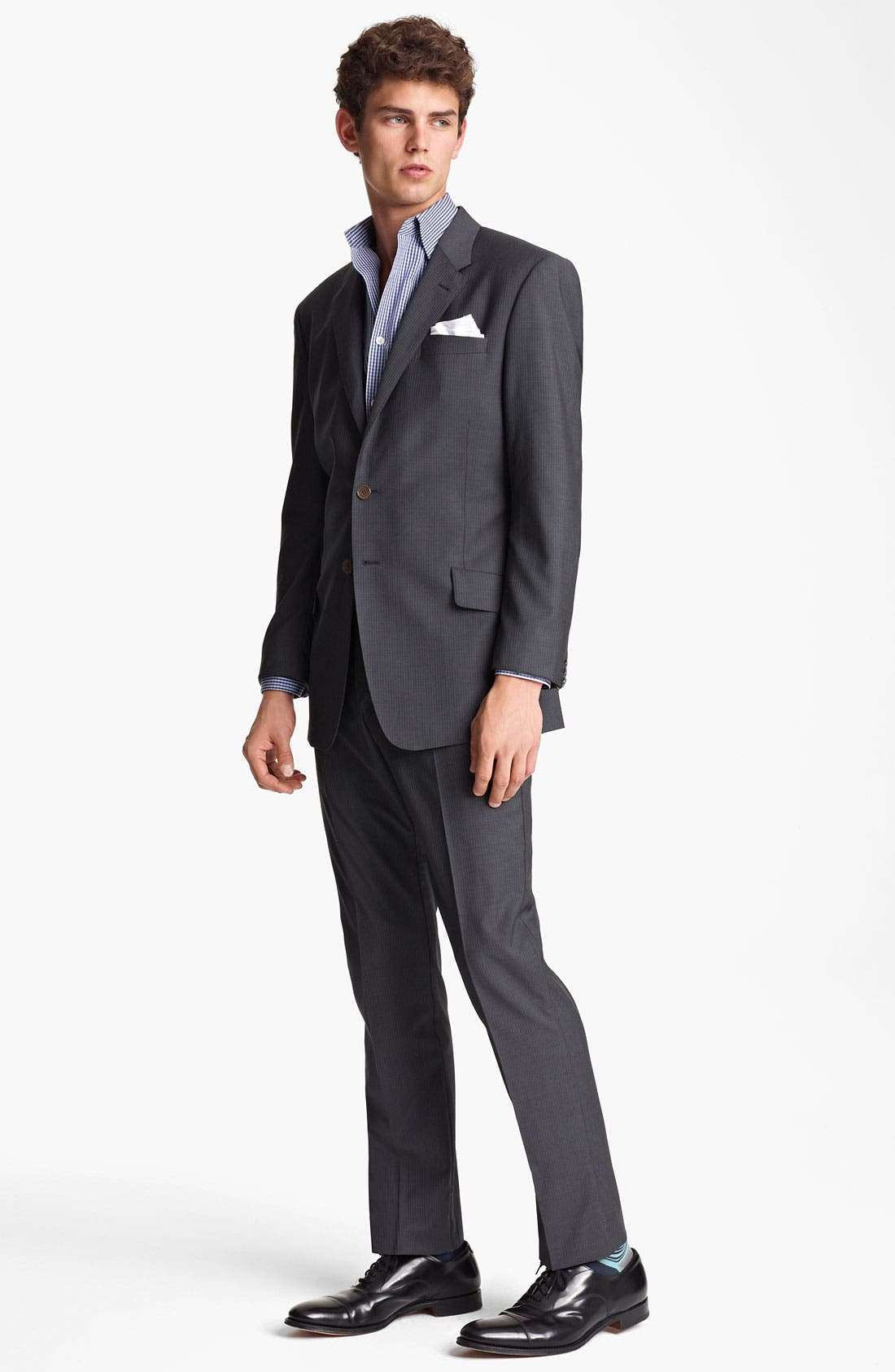 Alternate Image 2  - Paul Smith London Slim Fit Chalk Stripe Wool Suit