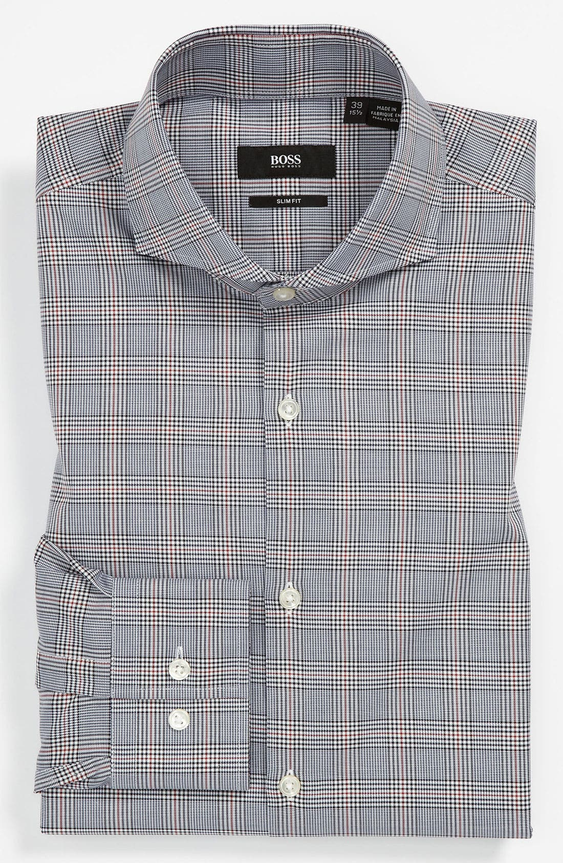Alternate Image 1 Selected - BOSS Black Slim Fit Dress Shirt (Online Only)