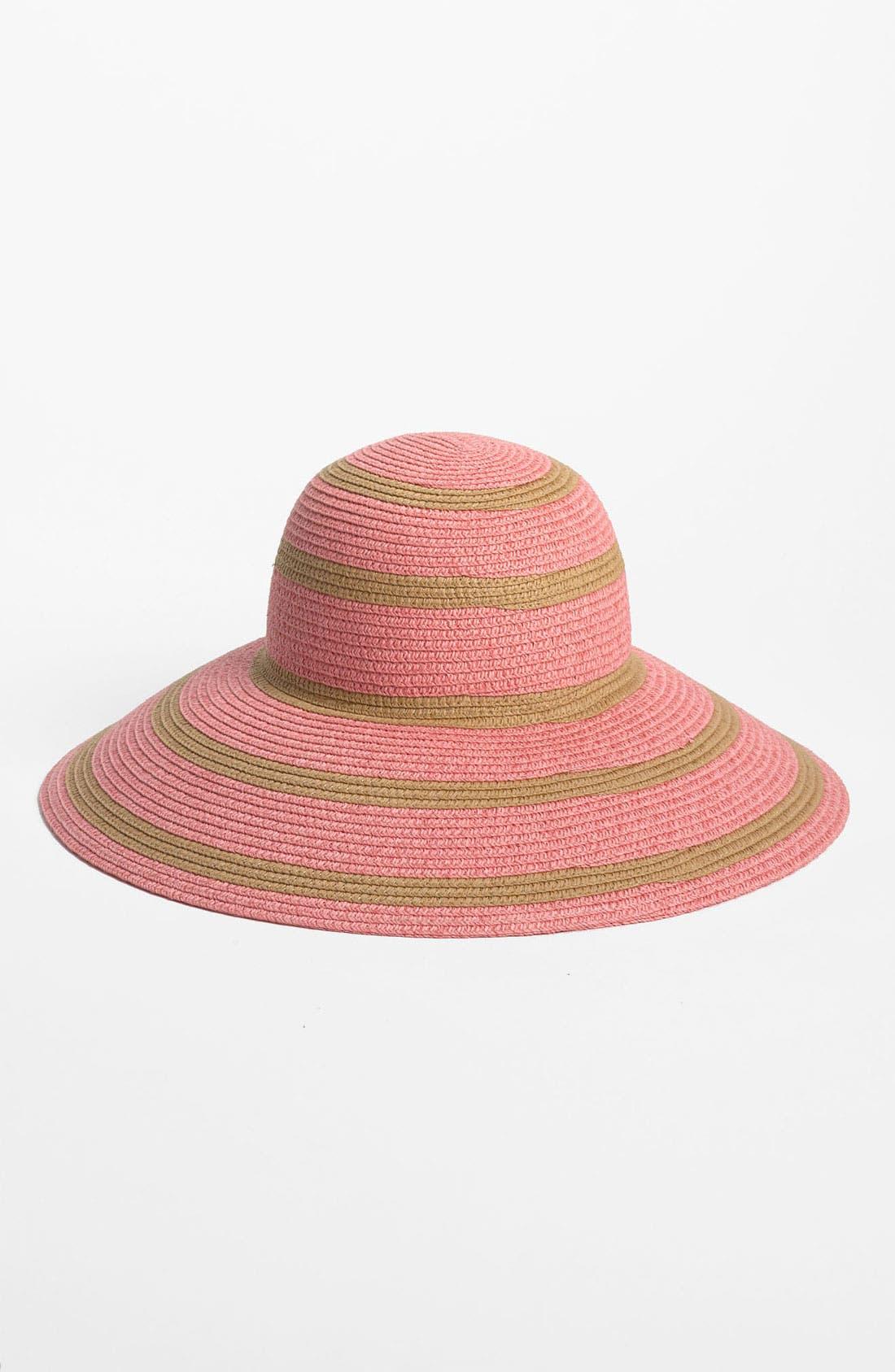 Main Image - Nordstrom 'Medium Stripe' Floppy Straw Hat