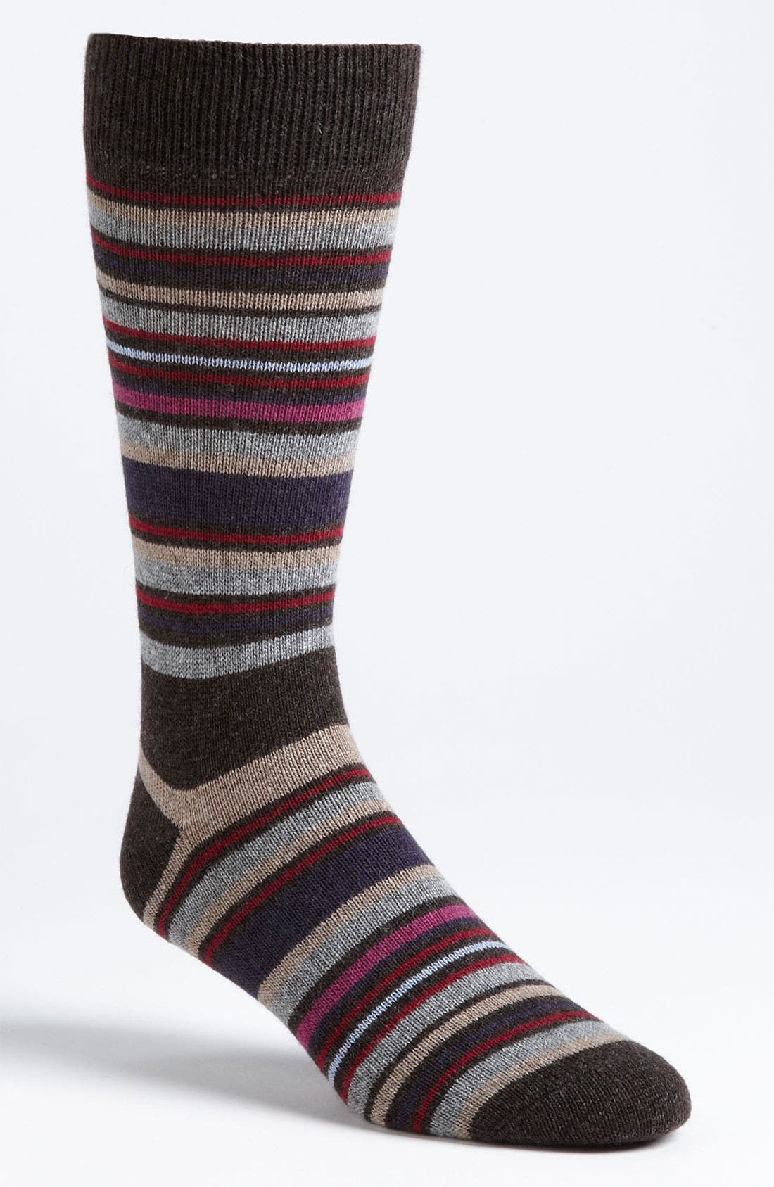 Alternate Image 1 Selected - Lorenzo Uomo Stripe Socks