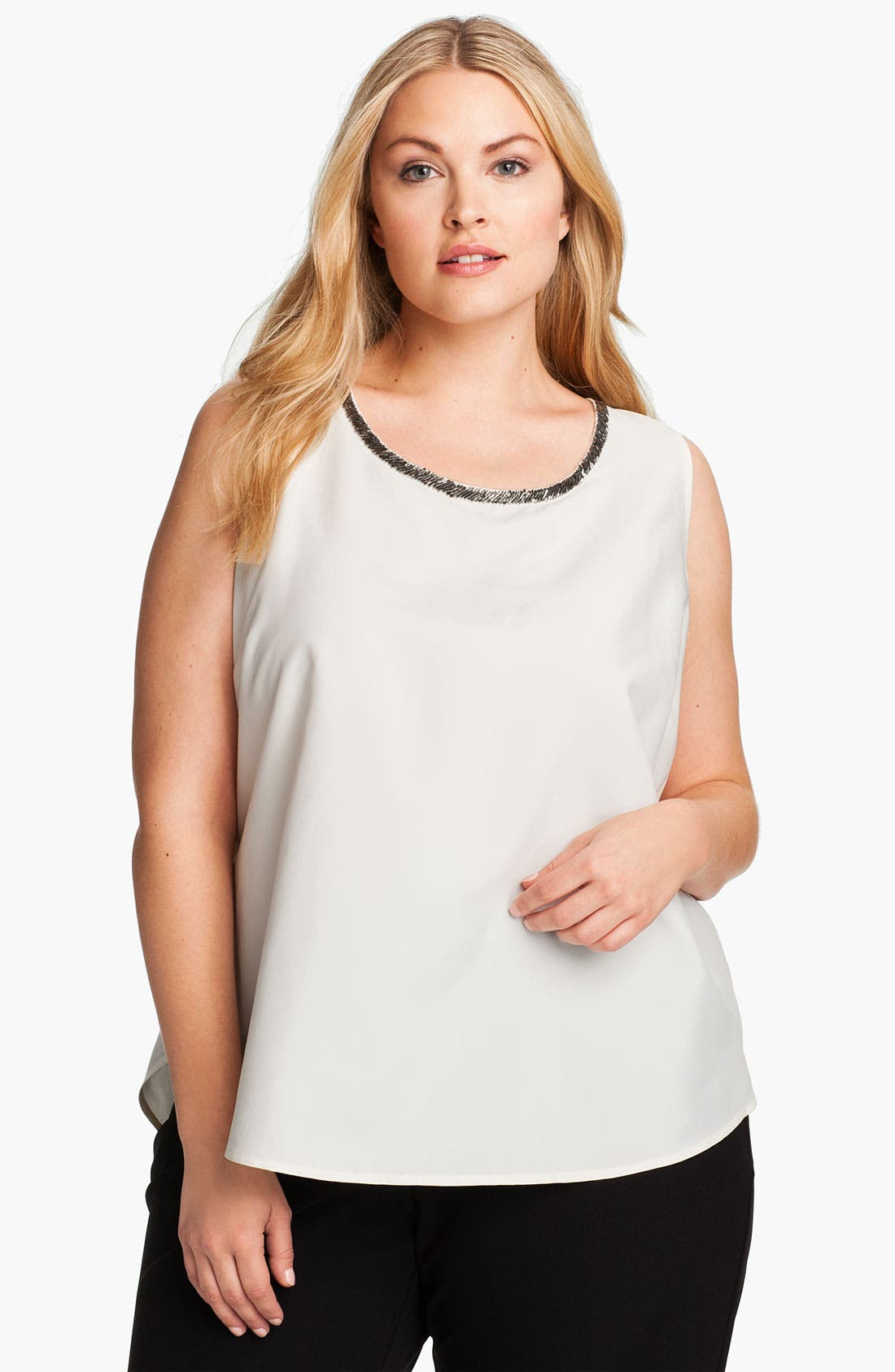 Main Image - Kenneth Cole New York 'Charm' Embellished Tank (Plus)