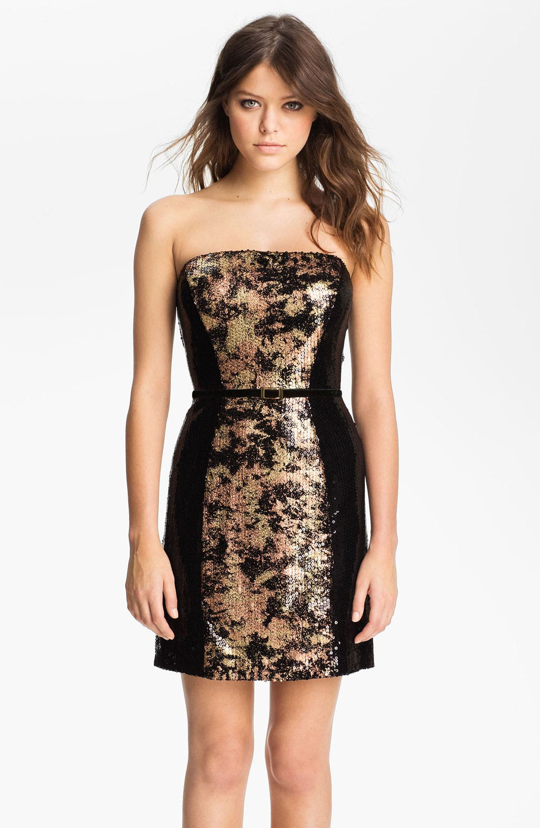 Alternate Image 1 Selected - Jessica Simpson Strapless Sequin Sheath Dress