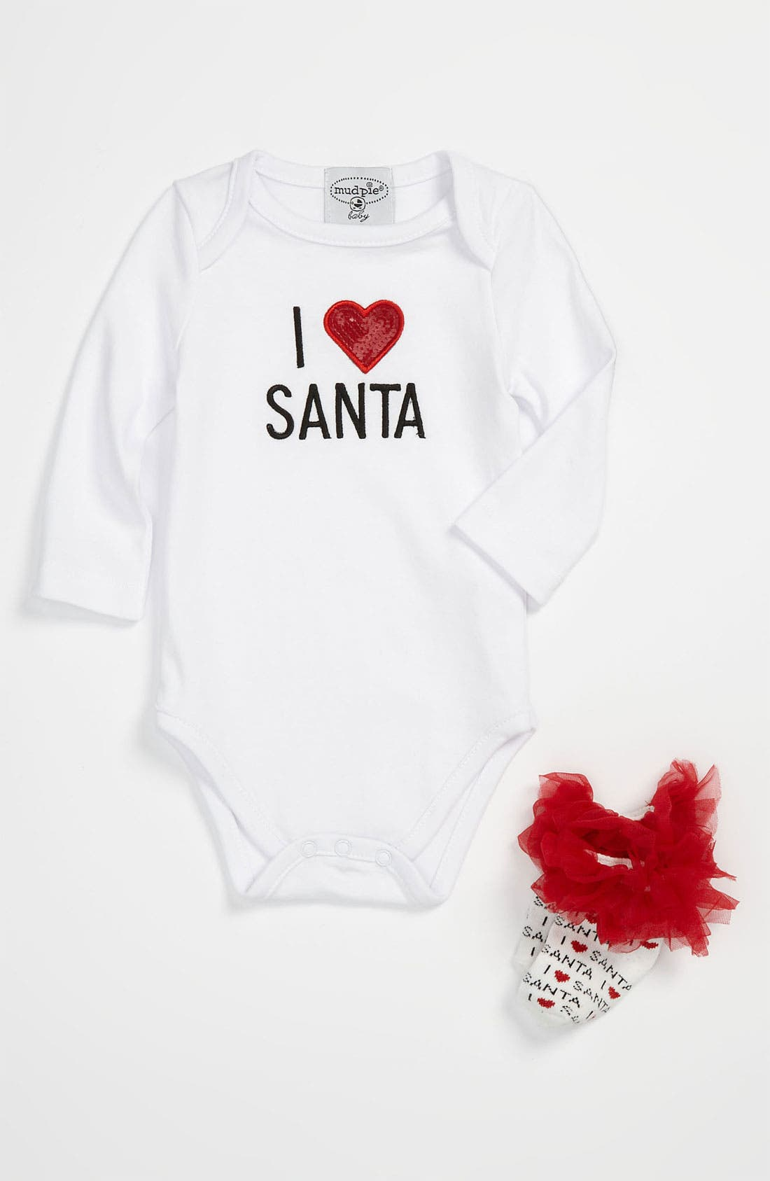 Alternate Image 1 Selected - Mud Pie 'I Love Santa' Gift Set (Infant)