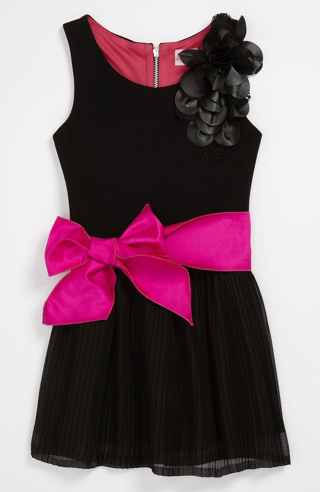 Alternate Image 1 Selected - Zoe Ltd Chiffon Ruffle Dress (Big Girls)