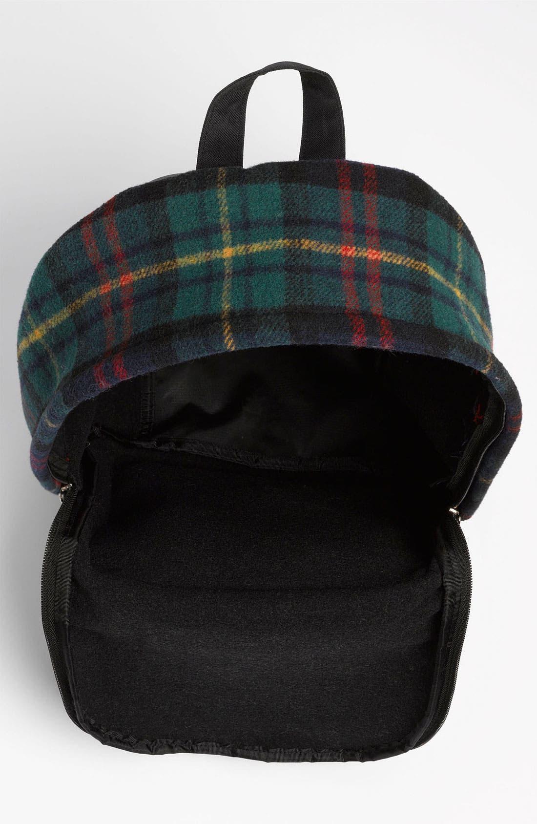 Alternate Image 3  - Topman Scottish Plaid Flannel Backpack