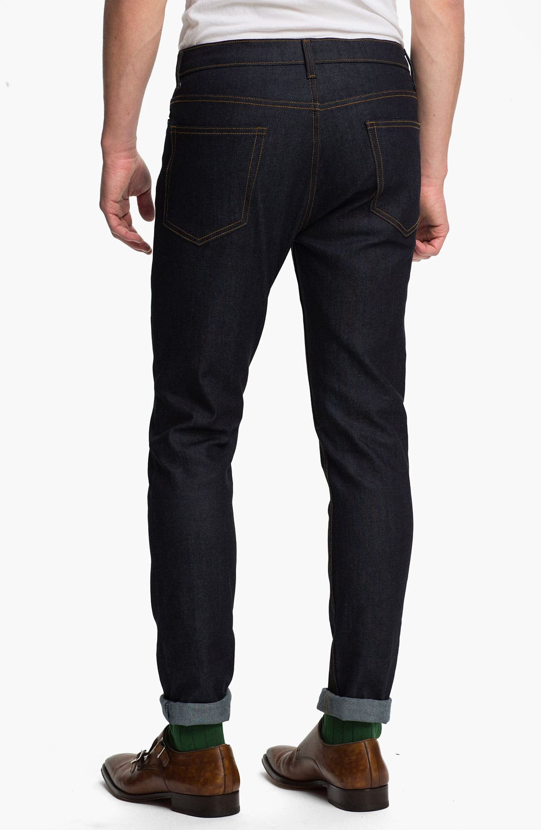 Alternate Image 2  - Topman Skinny Fit Stretch Jeans (Dark Blue)