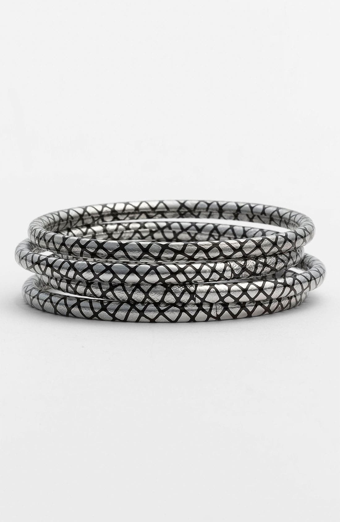 Alternate Image 1 Selected - Chamak by Priya Kakkar Fishnet Bangles (Set of 4)