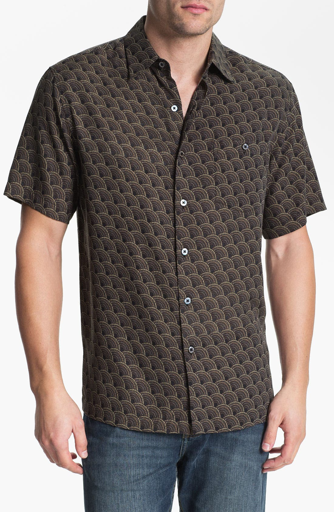 Main Image - Tori Richard 'Ditto' Silk Blend Campshirt