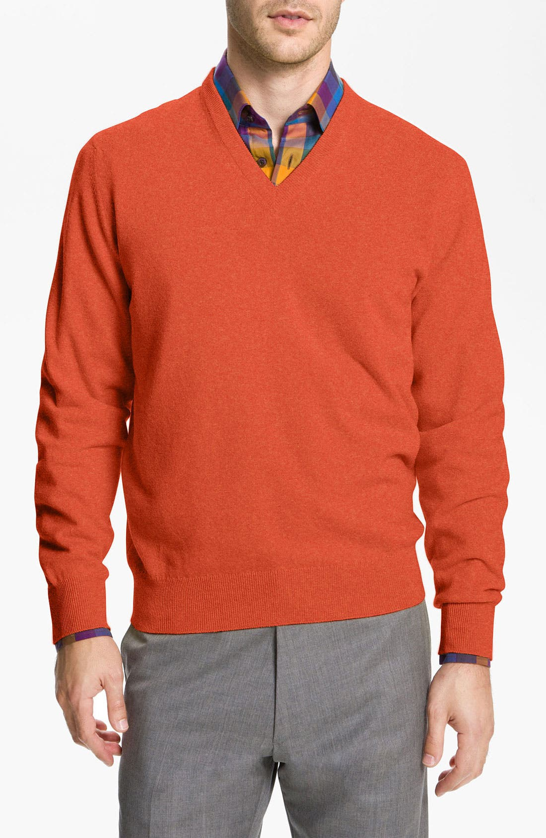Main Image - MacAlan V-Neck Cashmere Sweater