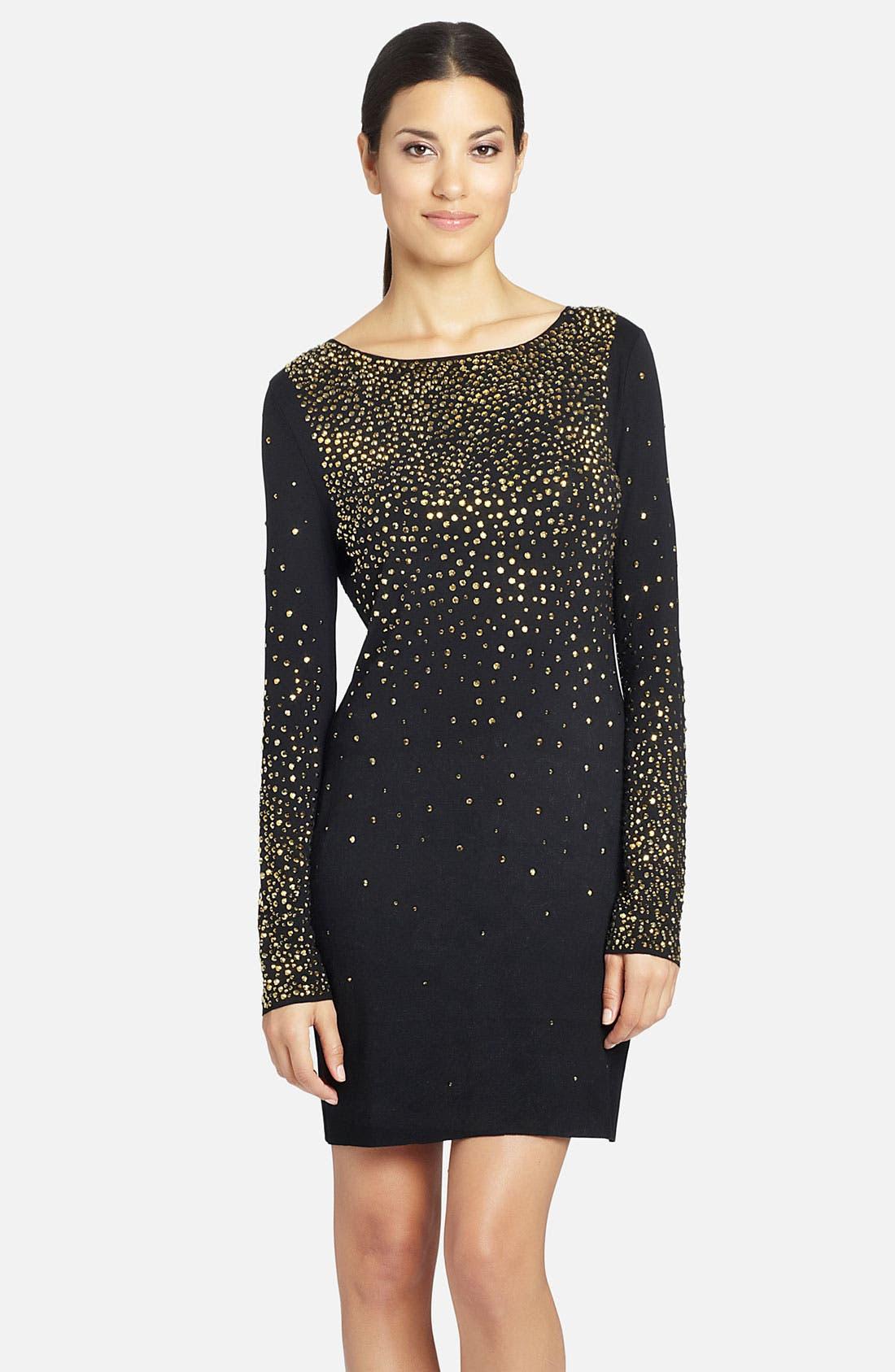 Alternate Image 1 Selected - Cynthia Steffe 'Nastasia' Long Sleeve Embellished Sheath Dress