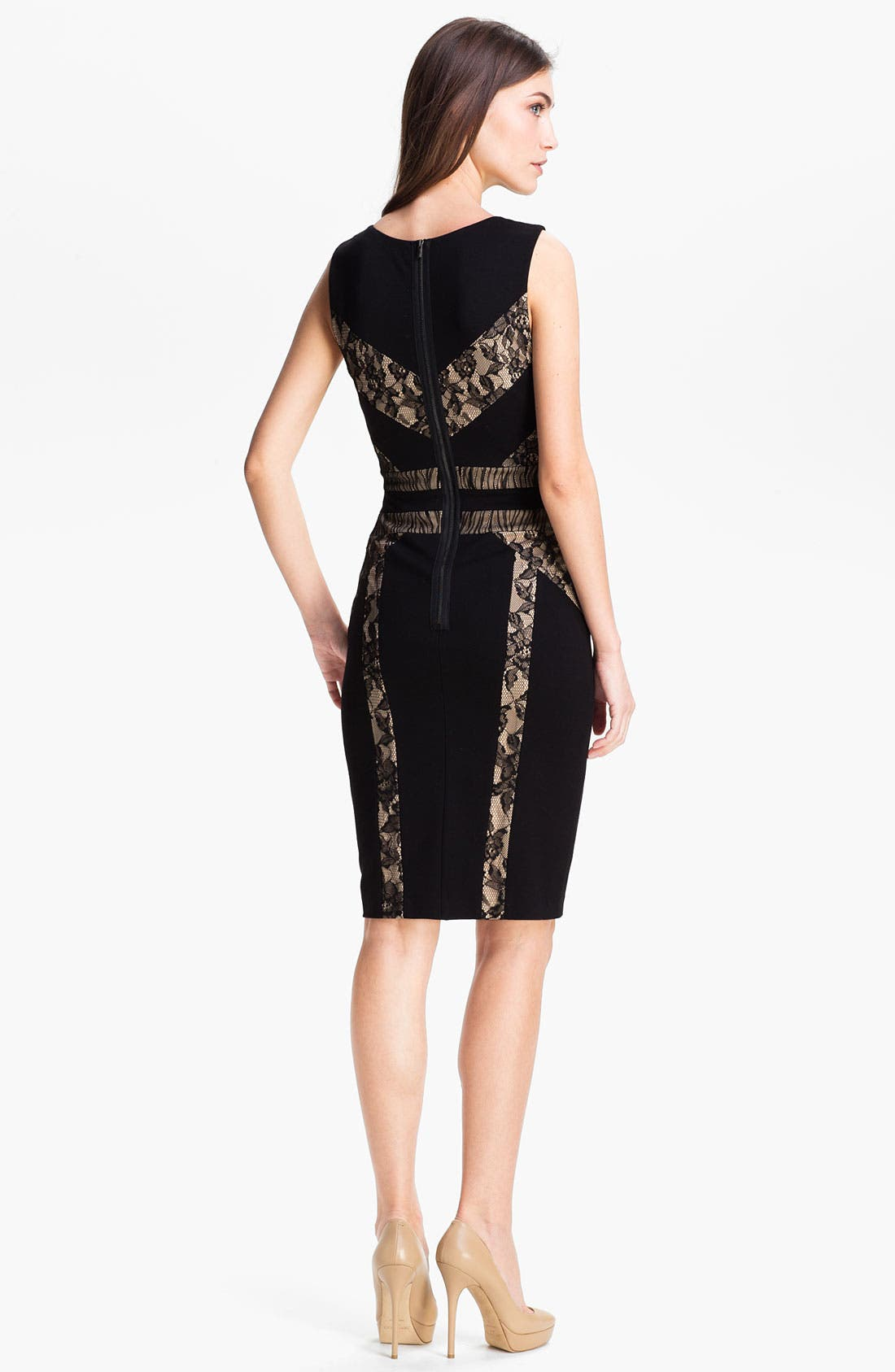 Alternate Image 2  - BCBGMAXAZRIA 'Raina' Techno Knit Sheath Dress