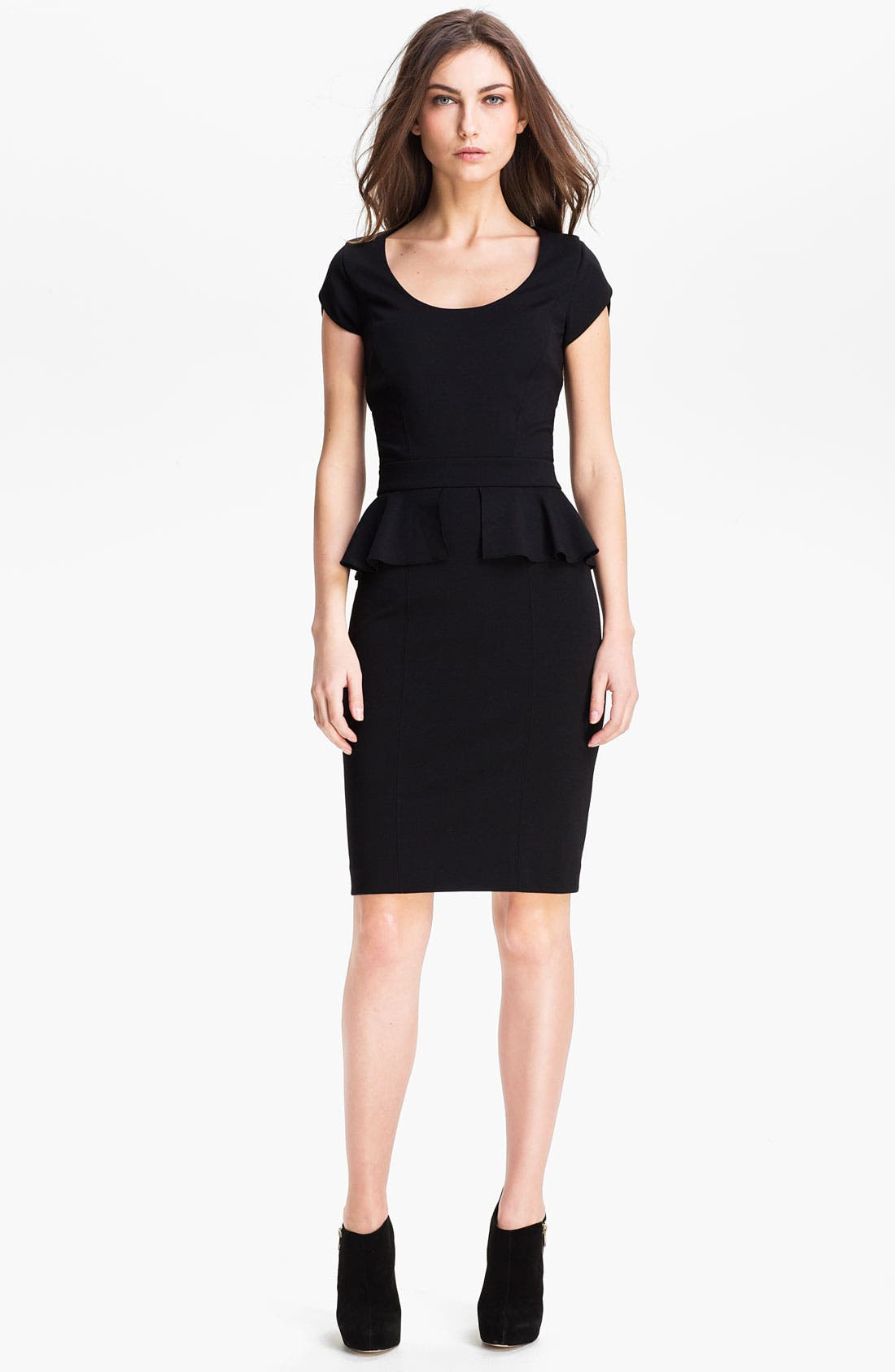 Alternate Image 1 Selected - Rebecca Taylor Peplum Sheath Dress
