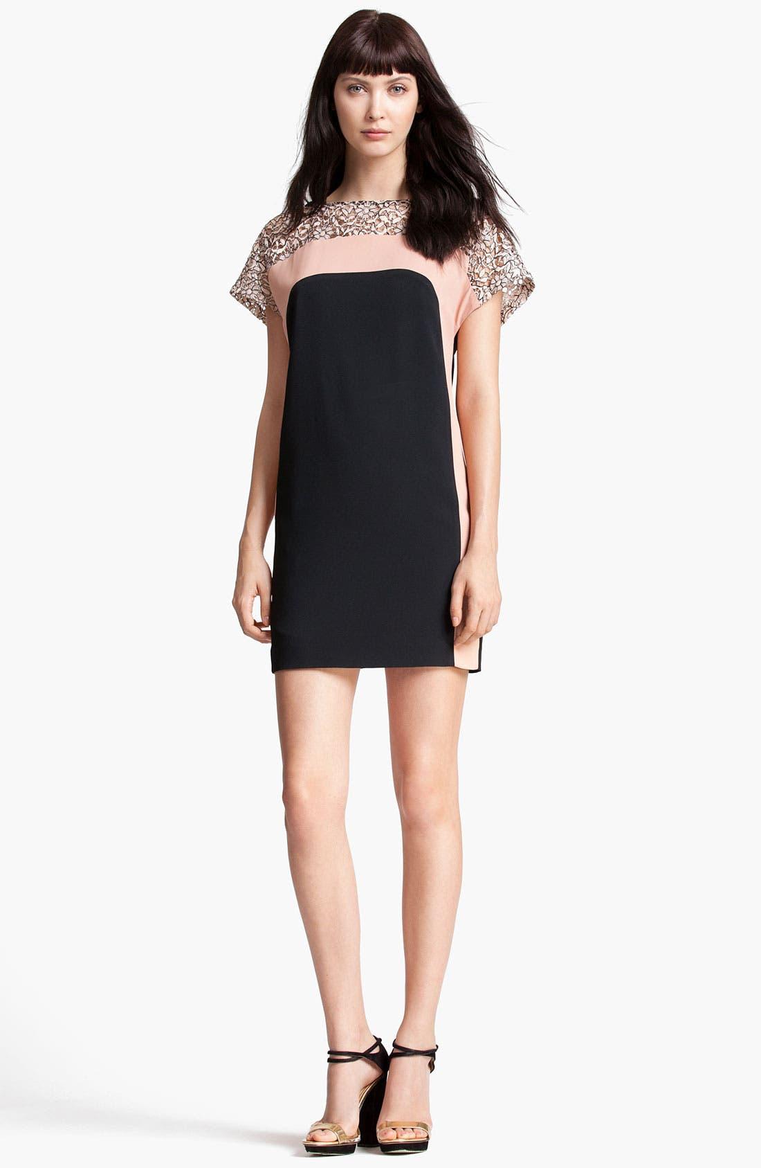 Alternate Image 1 Selected - MSGM Lace Yoke Dress