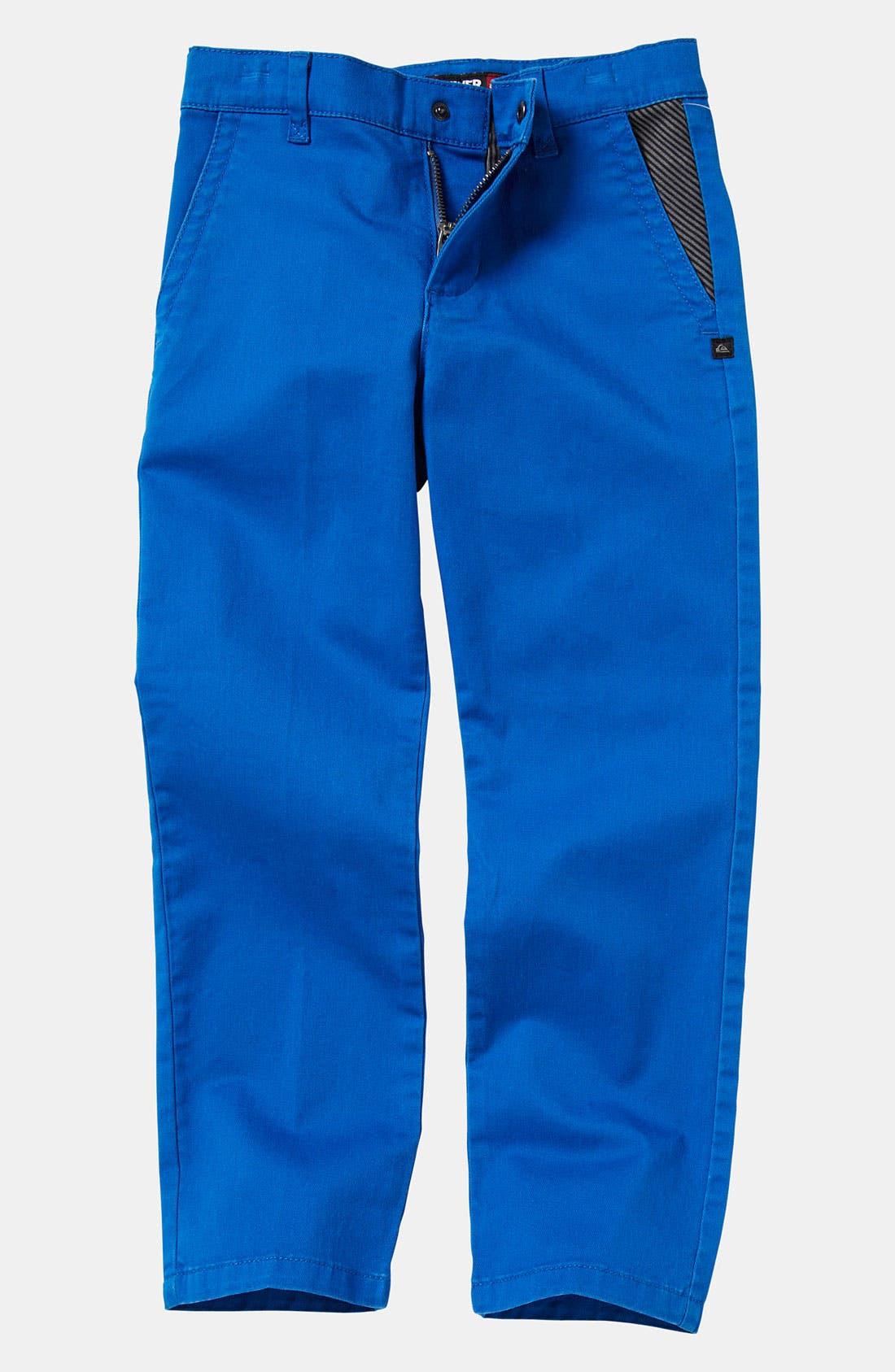 Main Image - Quiksilver 'Box Wire' Slim Straight Leg Chino Pants (Little Boys)