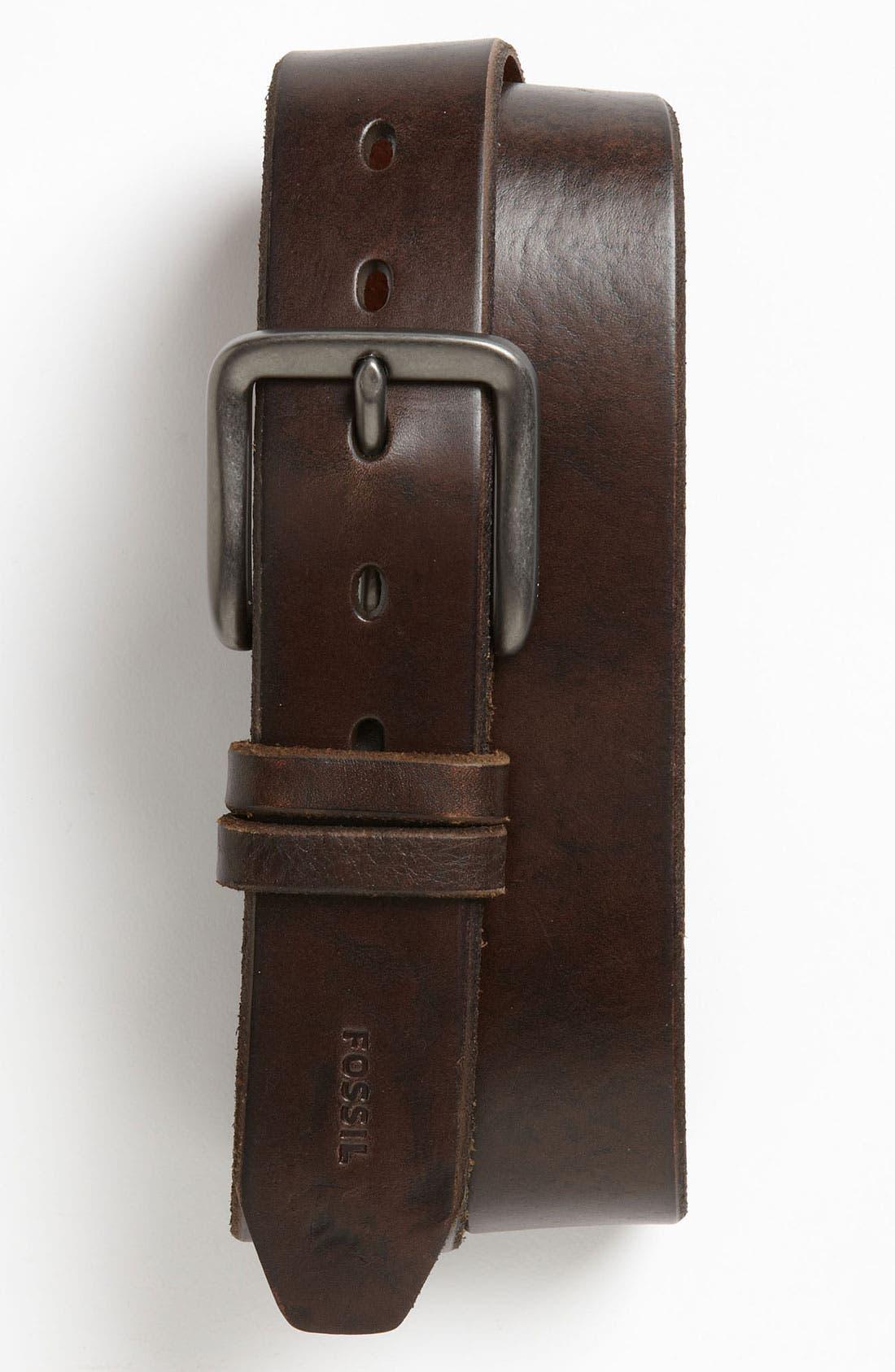Alternate Image 1 Selected - Fossil 'Jason' Leather Belt